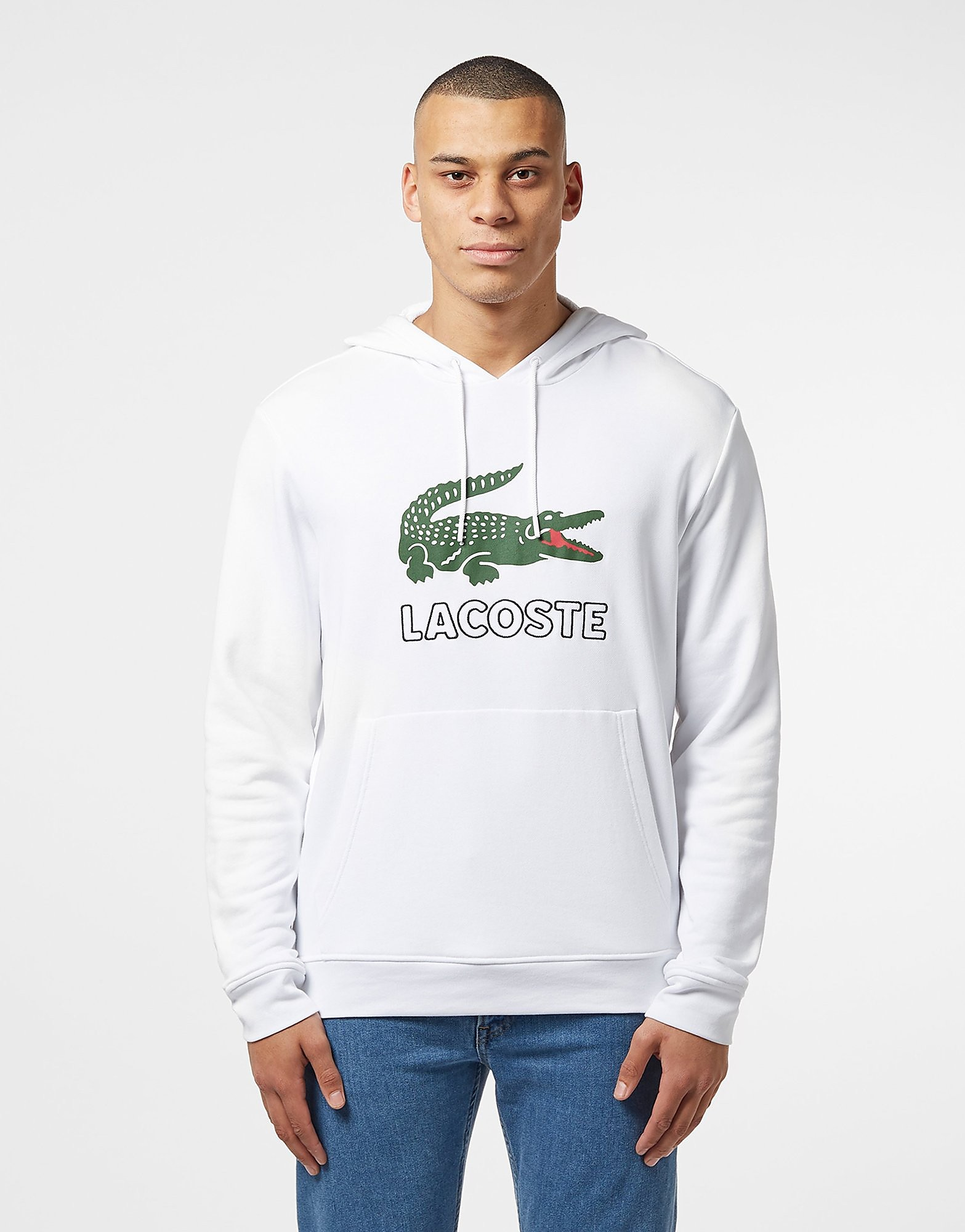 Lacoste Large Logo Vintage Hoodie