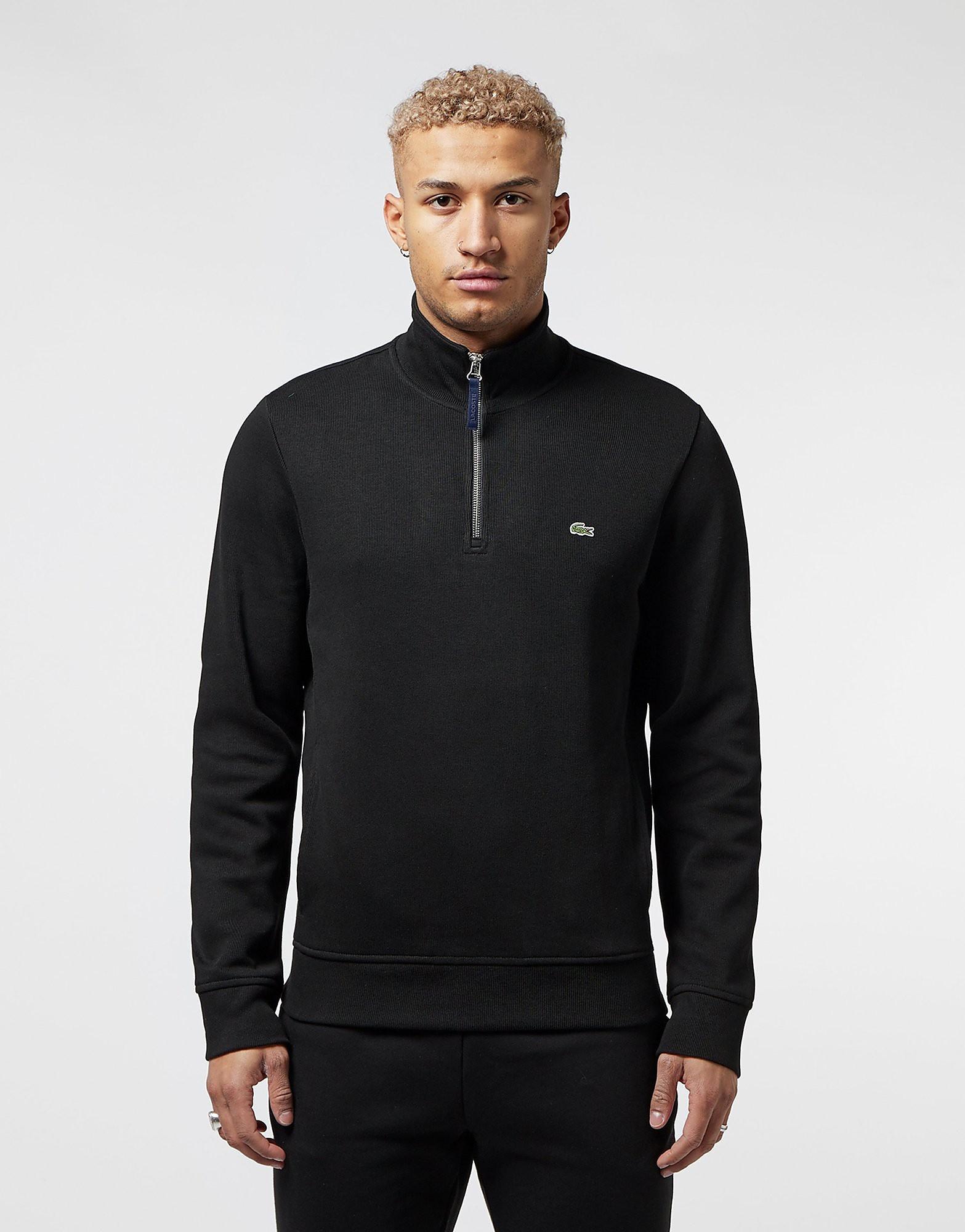 Lacoste Half Zip Ribbed Sweatshirt