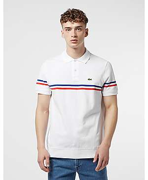 5e3d6bf90 Lacoste Made In France Short Sleeve Stripe Polo Shirt ...