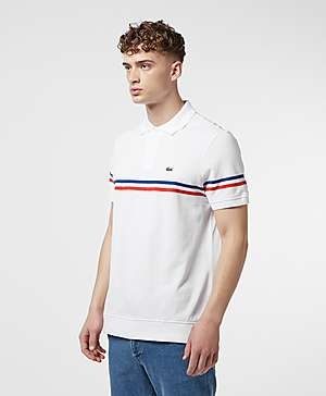 e9fcfc4b21354 ... Lacoste Made In France Short Sleeve Stripe Polo Shirt