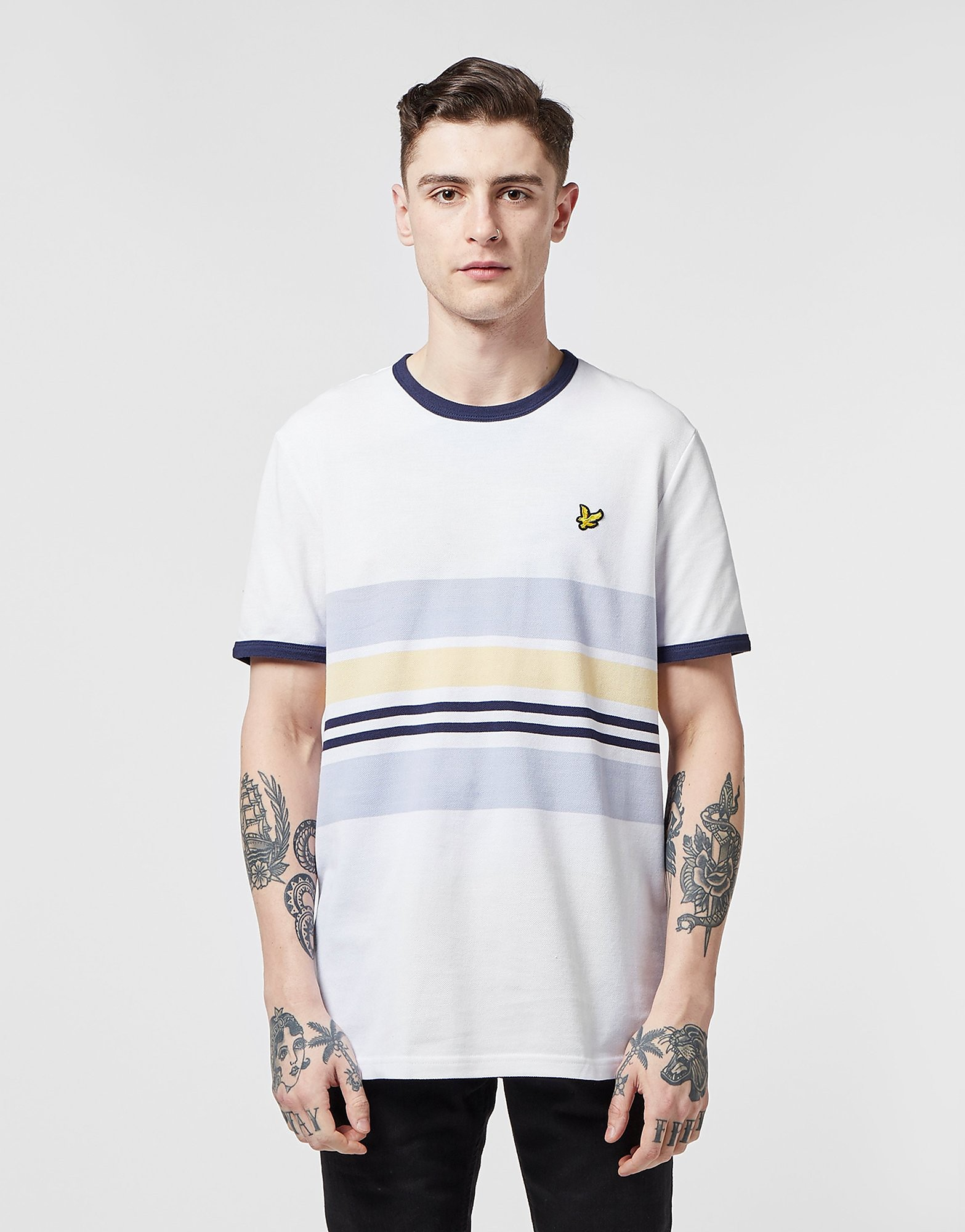 Lyle & Scott Pique Short Sleeve Stripe T-Shirt