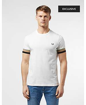 4035cb61126 Fred Perry Deep Cuff Short Sleeve T-Shirt ...