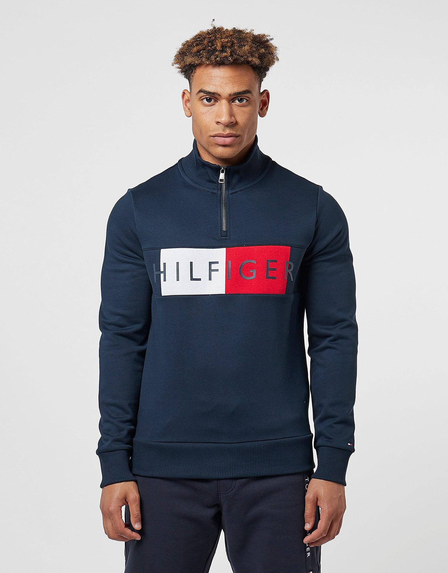 Tommy Hilfiger Half Zip Flag Sweatshirt