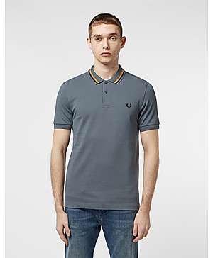 55c40e973a85 Fred Perry Stripe Collar Short Sleeve Polo Shirt ...