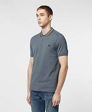 fa9ae634b75b ... Fred Perry Stripe Collar Short Sleeve Polo Shirt