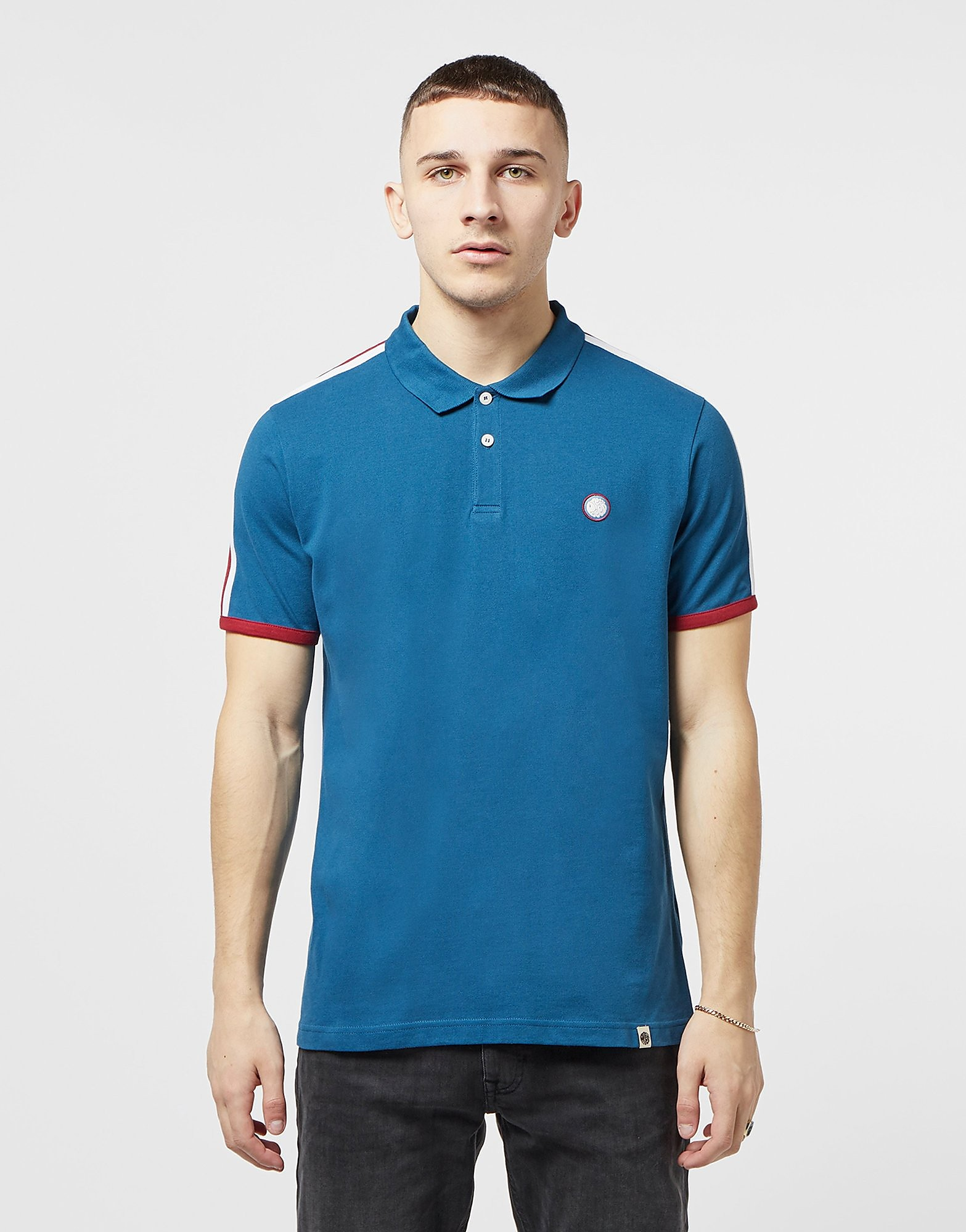 Pretty Green Tilby Tape Short Sleeve Polo Shirt