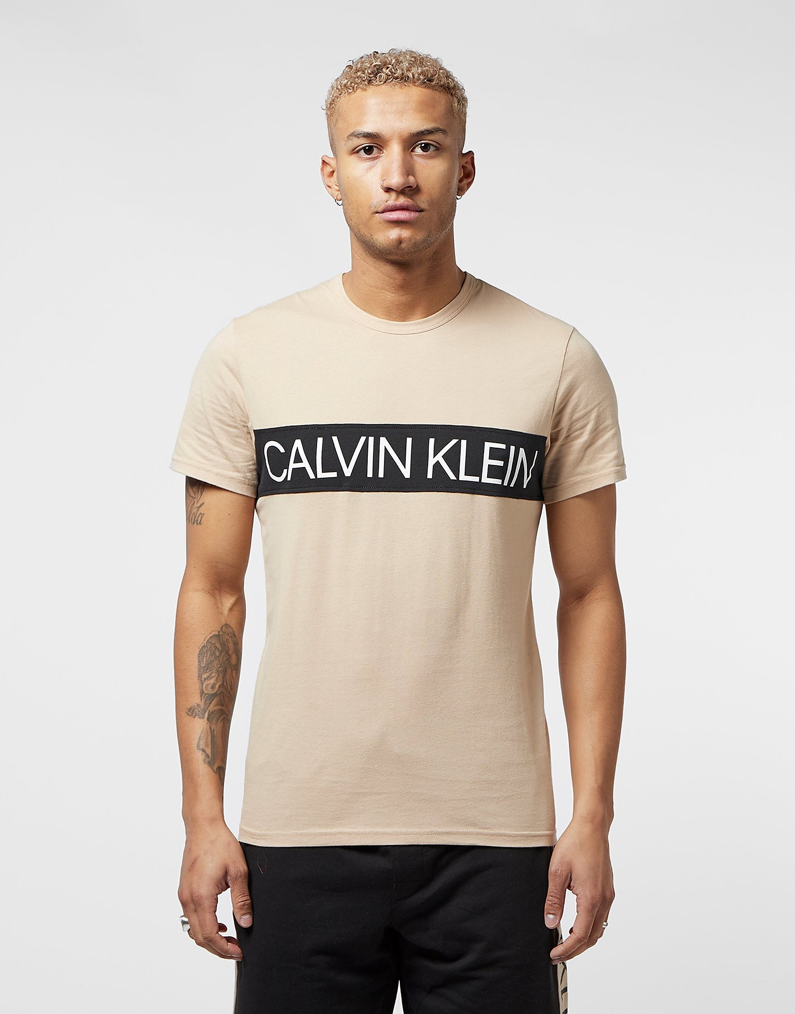 Calvin Klein Panel Logo Short Sleeve T-Shirt