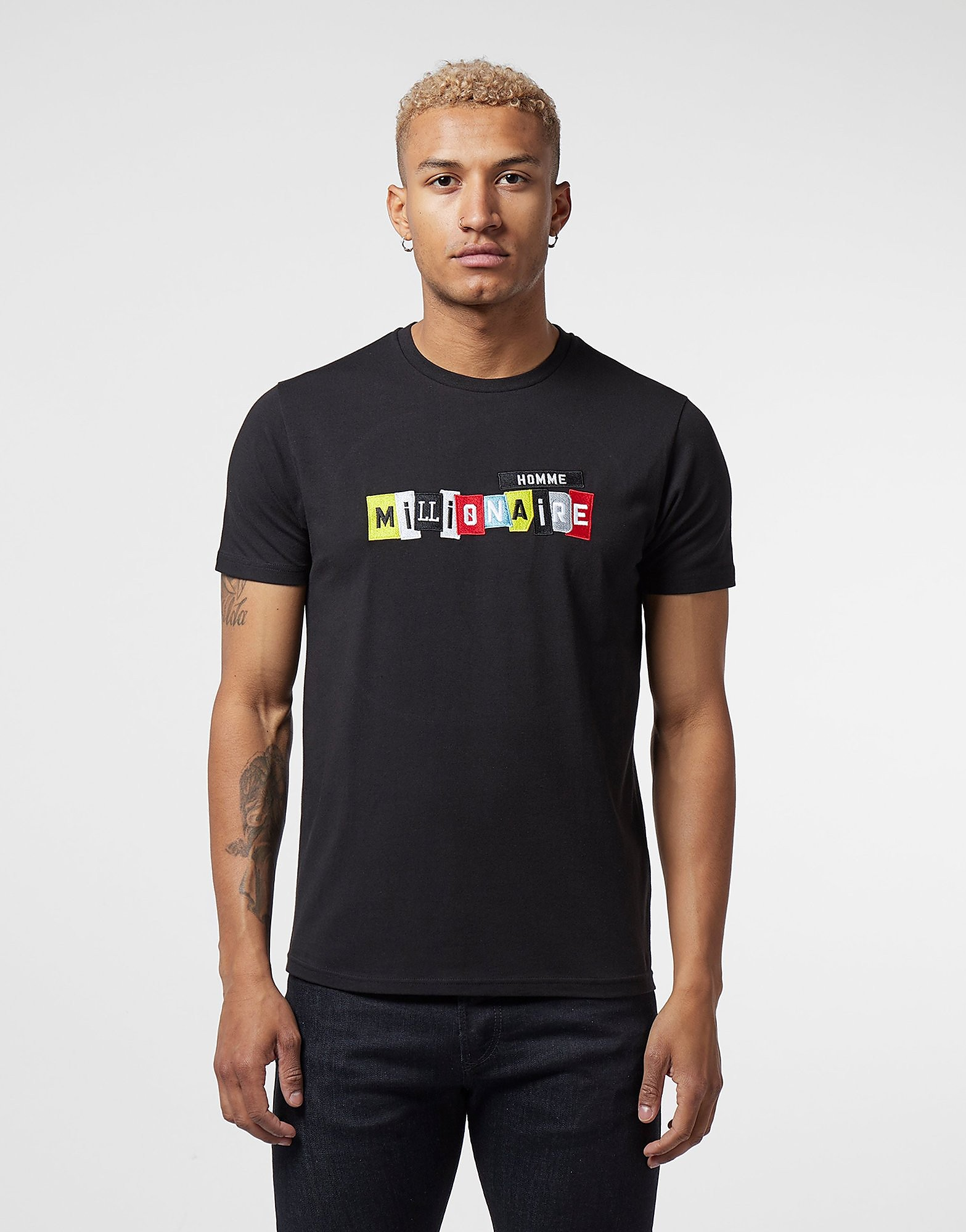 Millionaire Homme Patch Logo Short Sleeve T-Shirt - Online Exclusive
