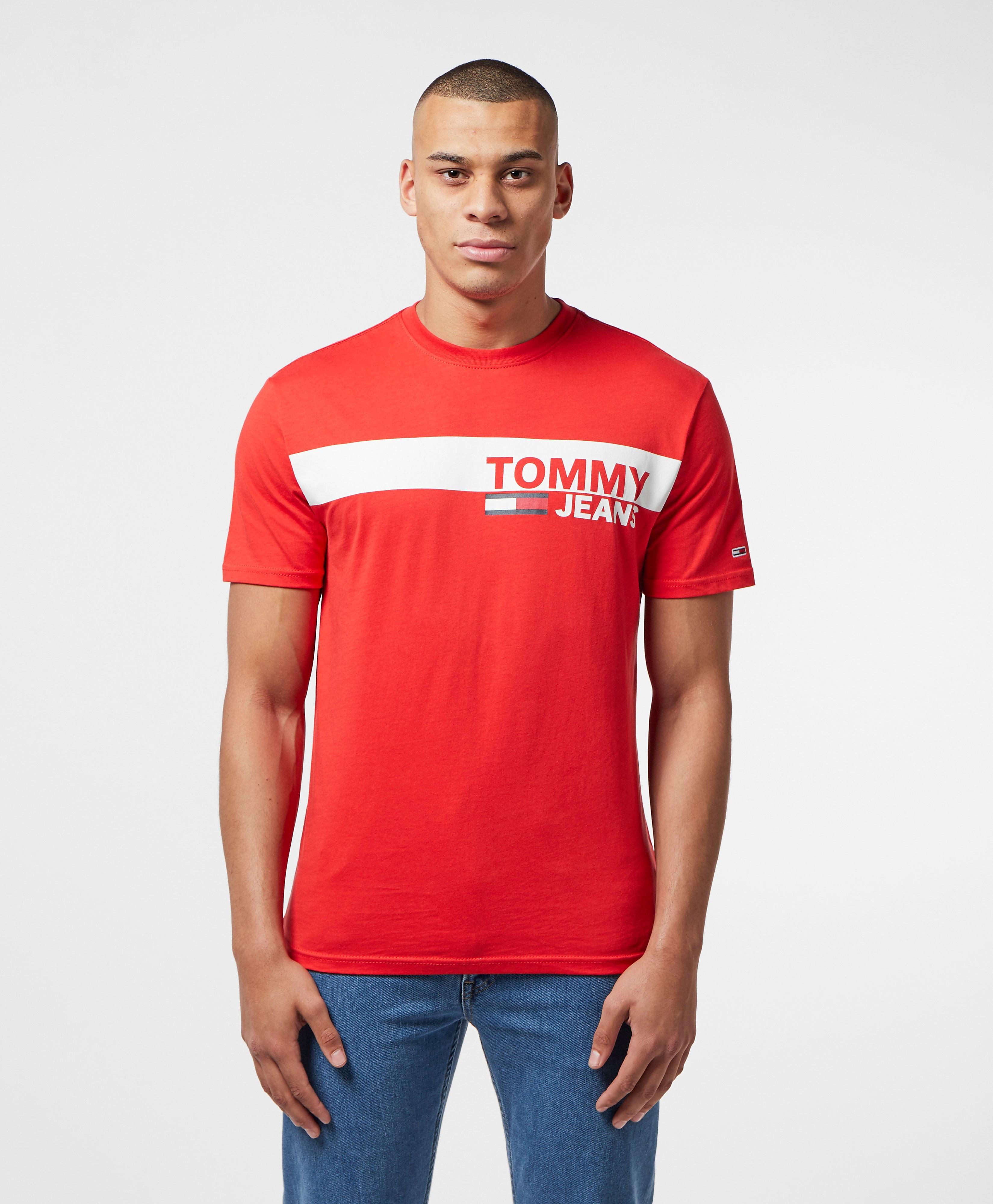 Tommy Jeans Panel Logo Short Sleeve T-Shirt
