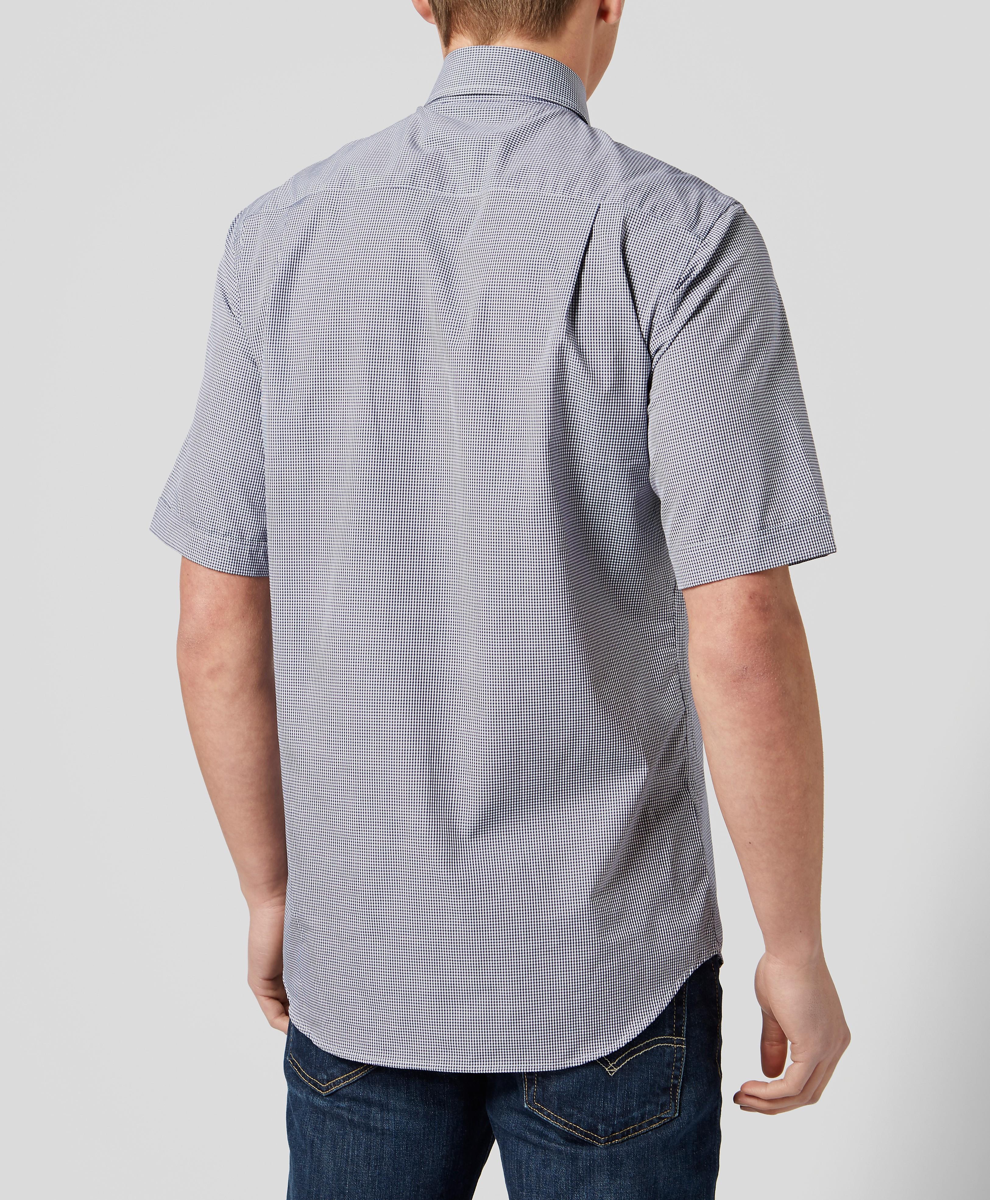 Paul and Shark Mini Gingham Short Sleeve Shirt