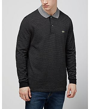 Lacoste Long Sleeved Stripe Polo Shirt