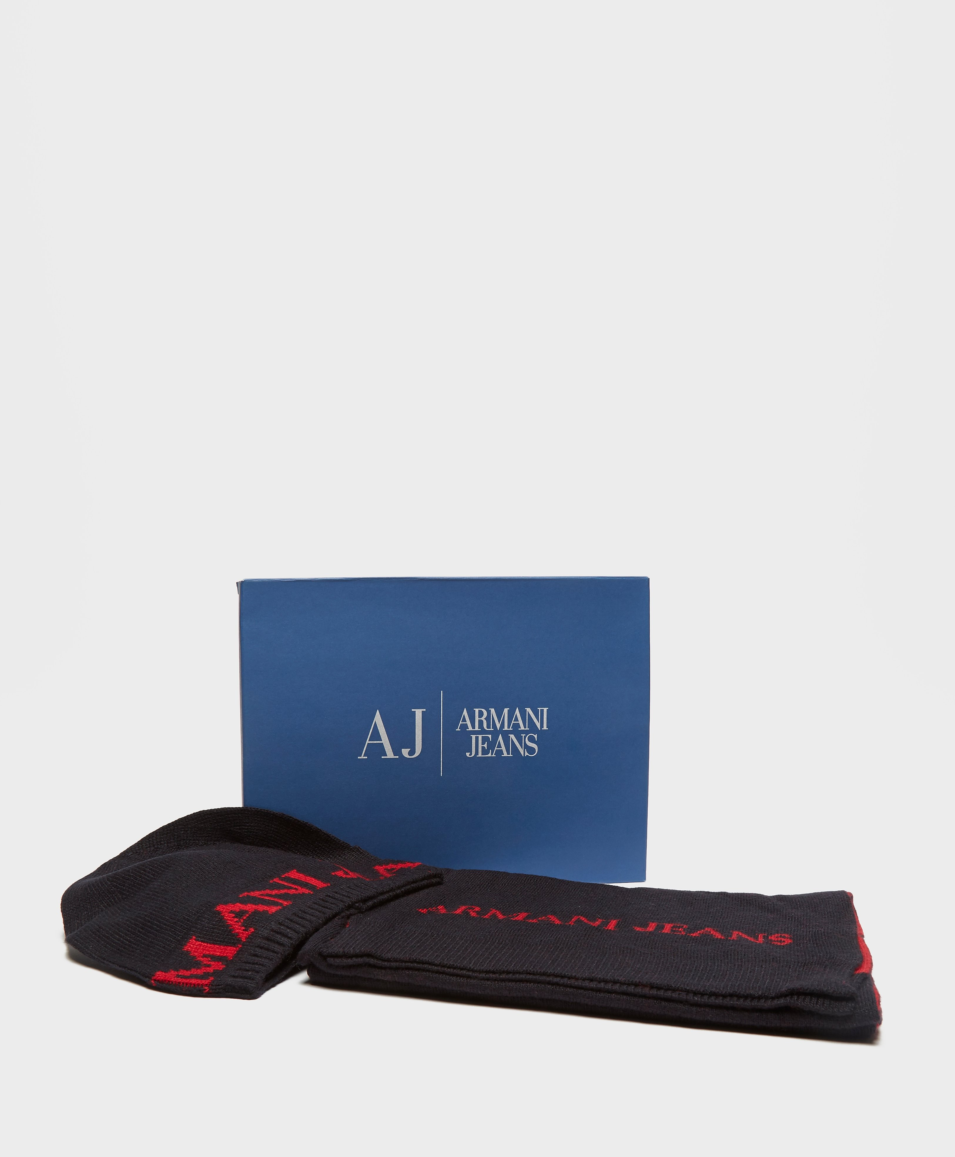 Armani Jeans Hat and Scarf Set