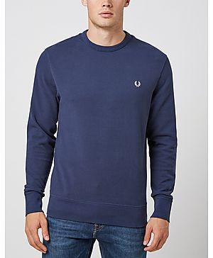 Fred Perry Pique Crew Sweatshirt