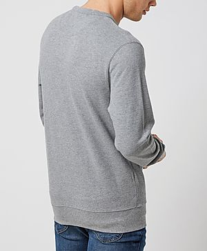 Fred Perry Pique Crew Sweatshirt