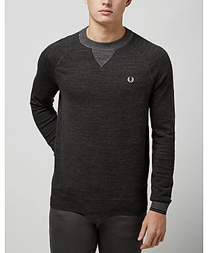 Fred Perry Marl Crew Knitted Sweatshirt