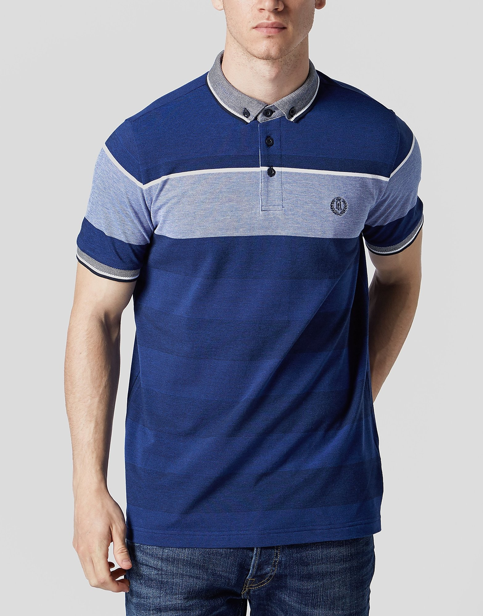 Henri Lloyd Bilting Stripe Polo Shirt  Blue Blue