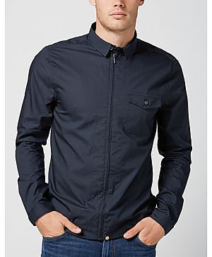 Pretty Green Zip Front Shirt