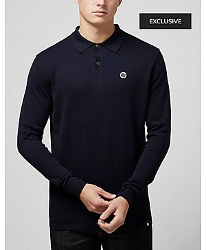 Pretty Green Long Sleeve Knit Polo - Exclusive