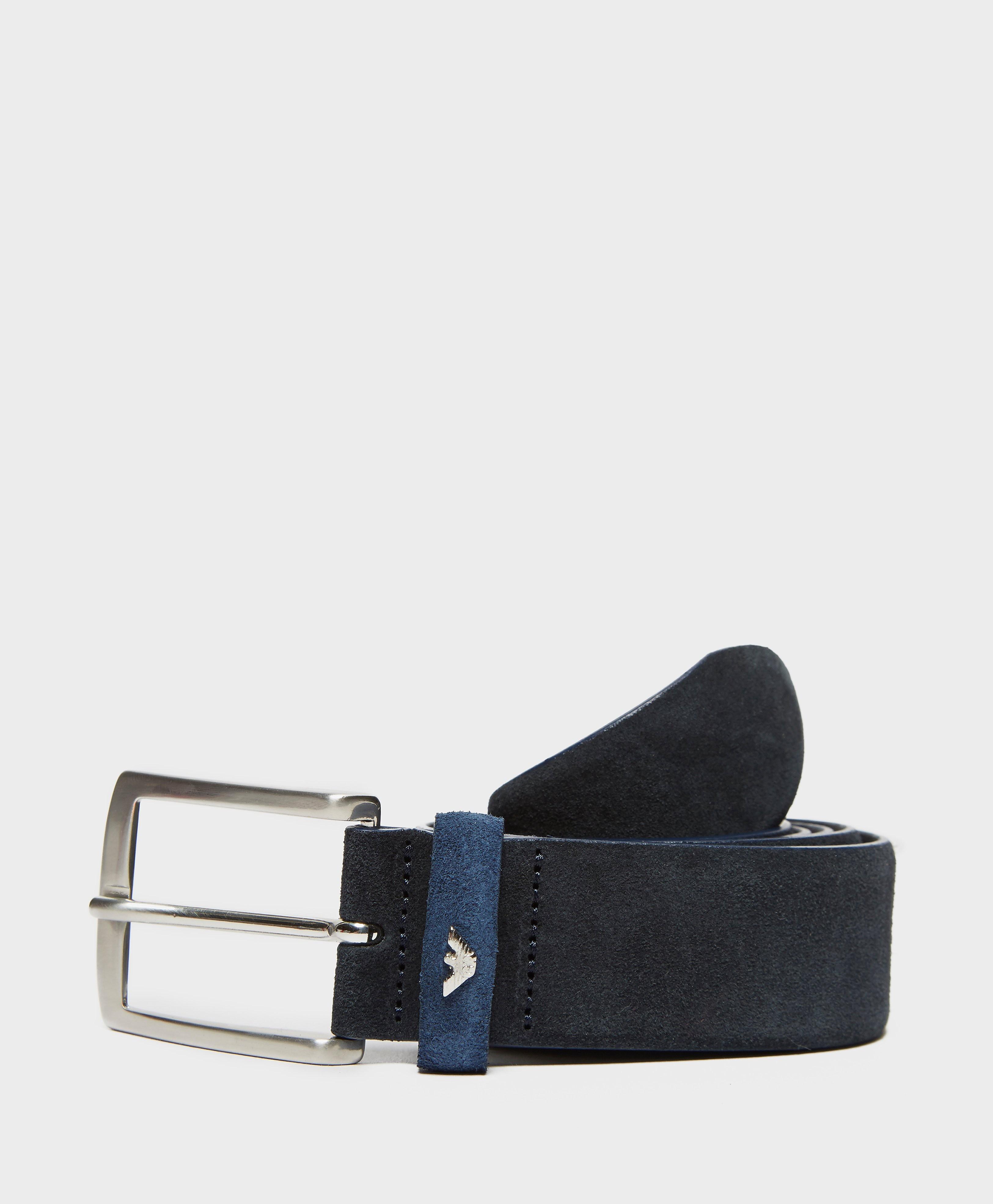 Armani Jeans Suede Belt  Blue Blue