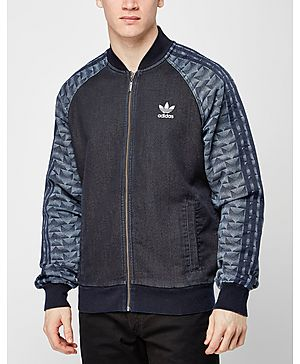 adidas Originals Fleece Denim Superstar Track Top
