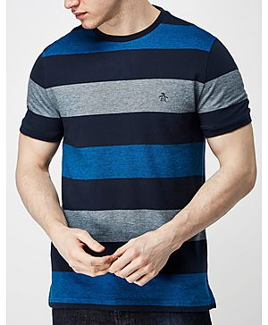 Original Penguin Birds Stripe T-Shirt - Exclusive