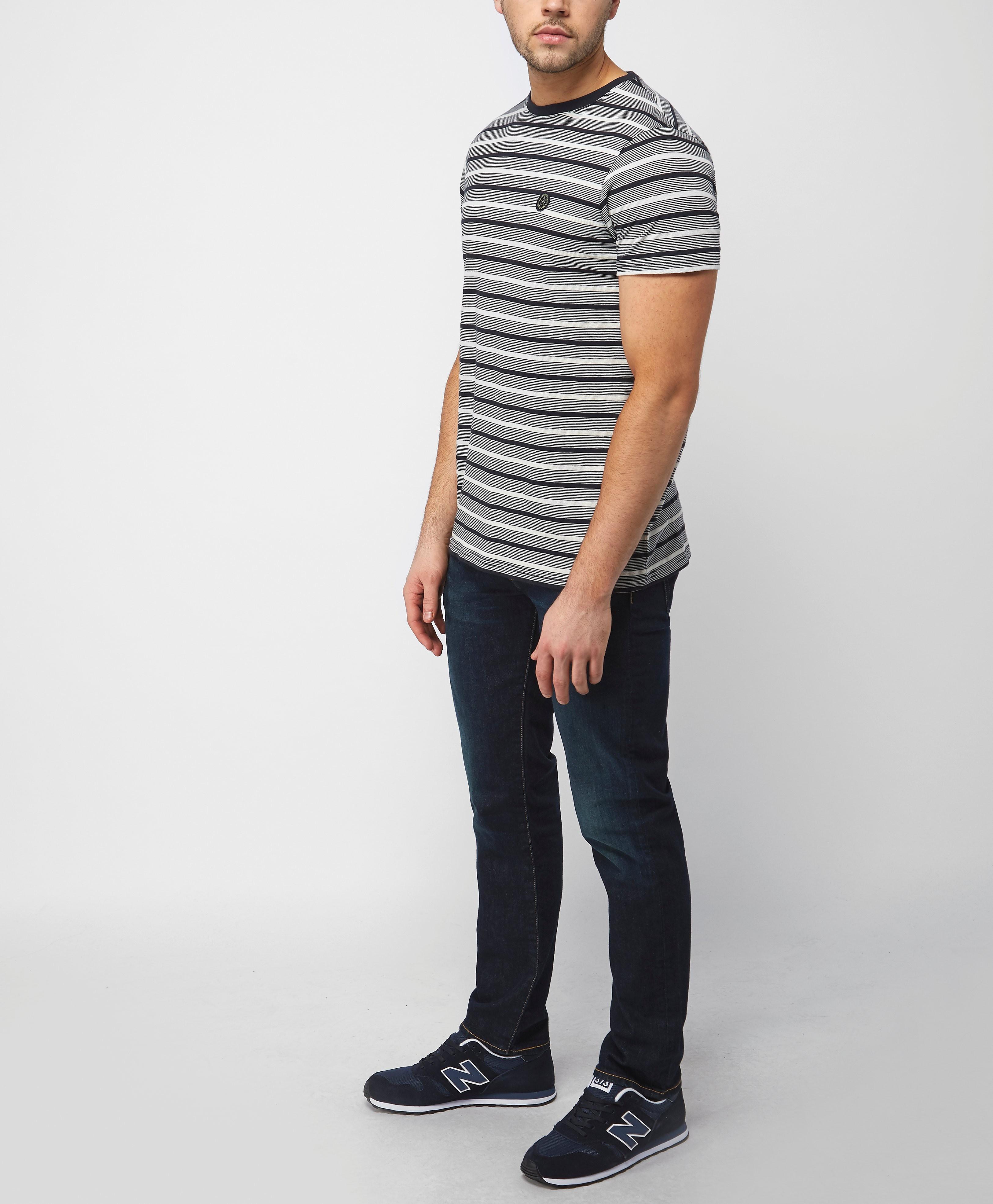 Nicholas Deakins Shadow Pique Stripe T-Shirt