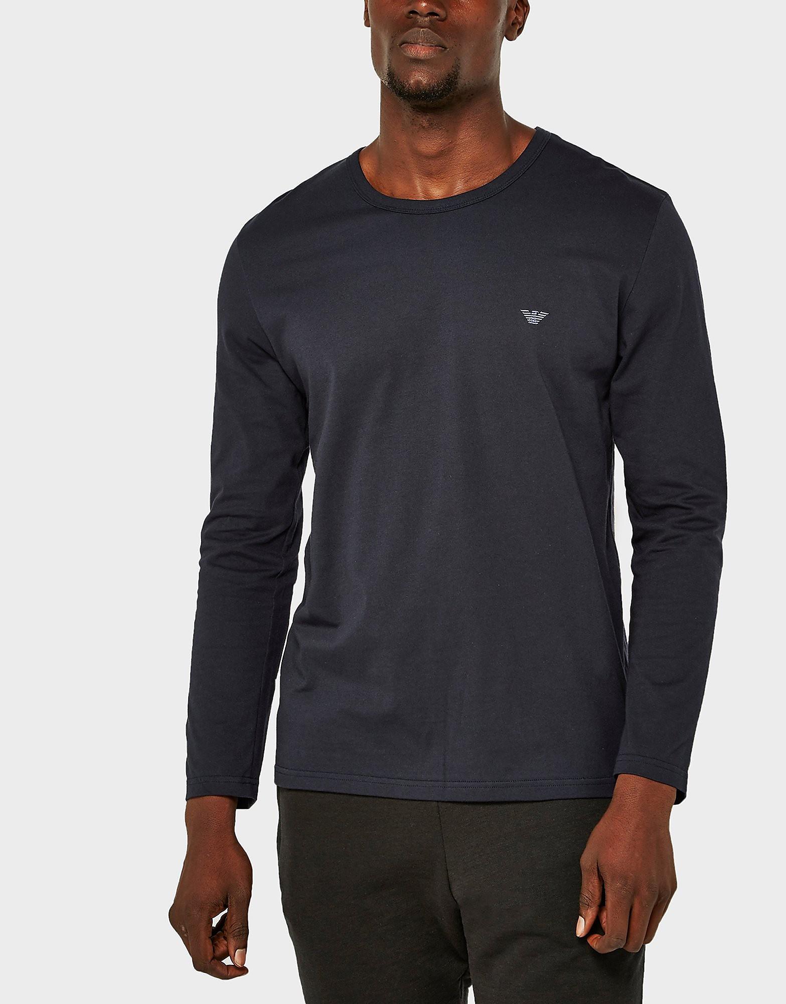 Emporio Armani Eagle Long Sleeve Crew T-Shirt