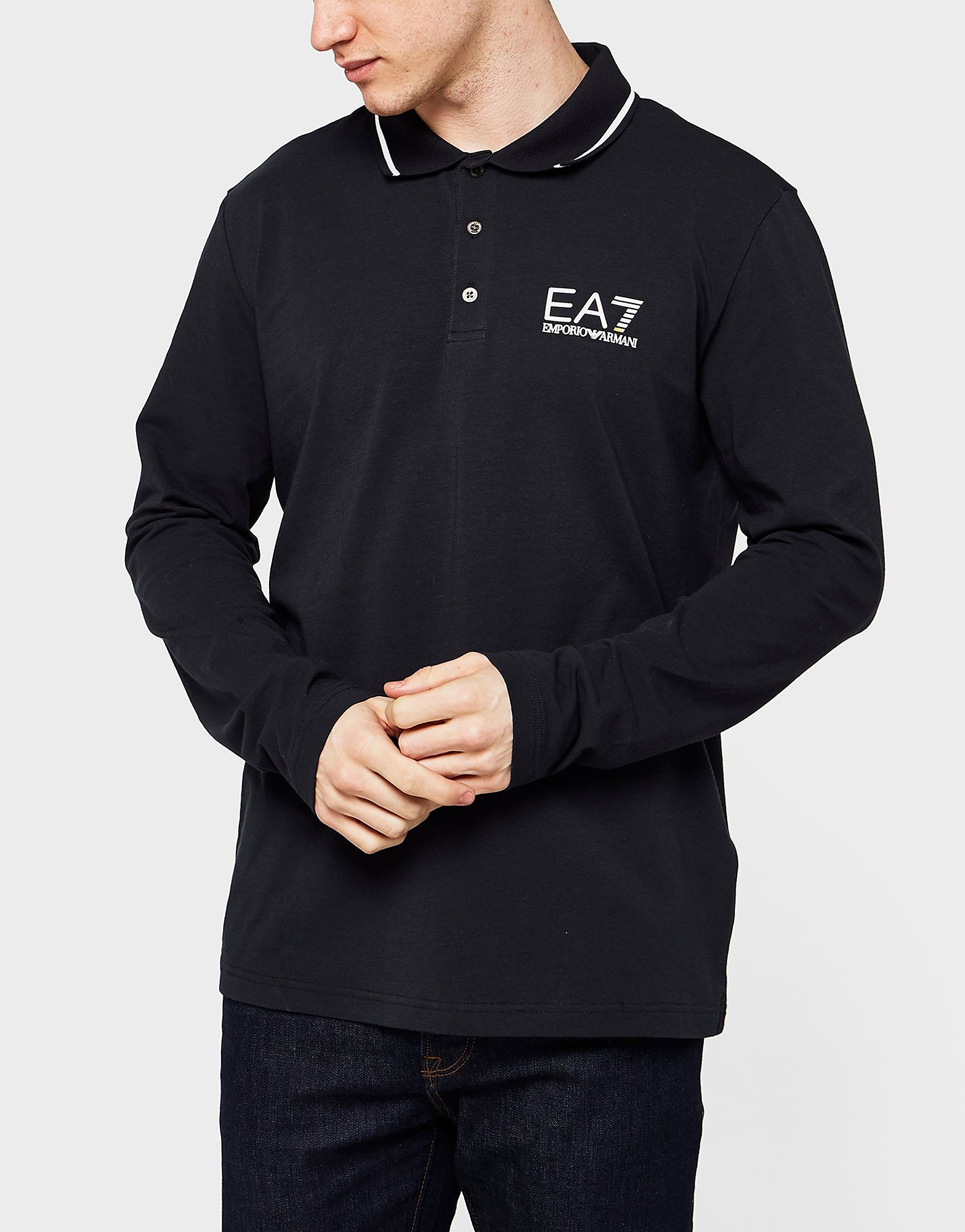 Emporio Armani EA7 Core Long Sleeve Polo Shirt