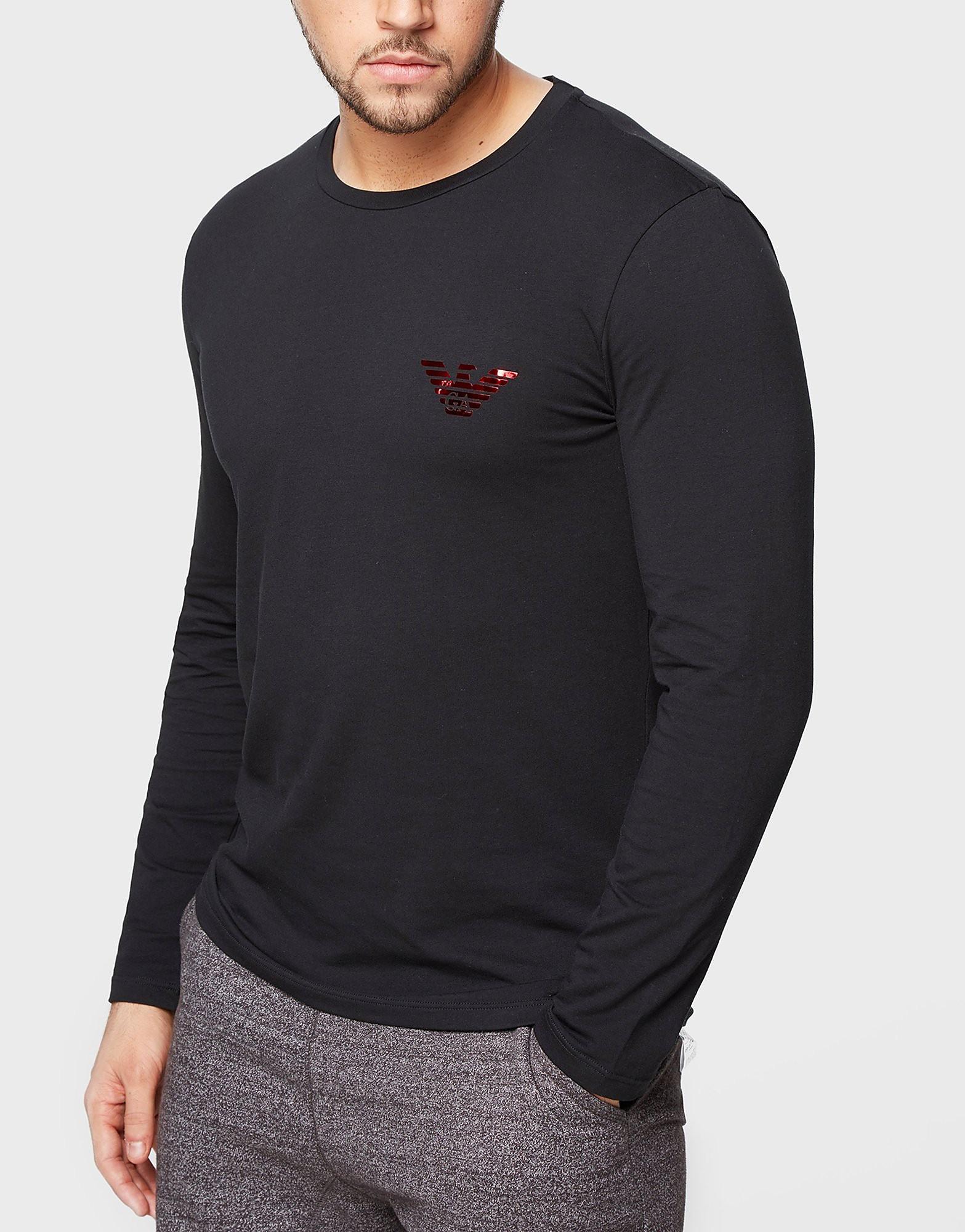 Emporio Armani Shine Eagle Long Sleeve T-Shirt