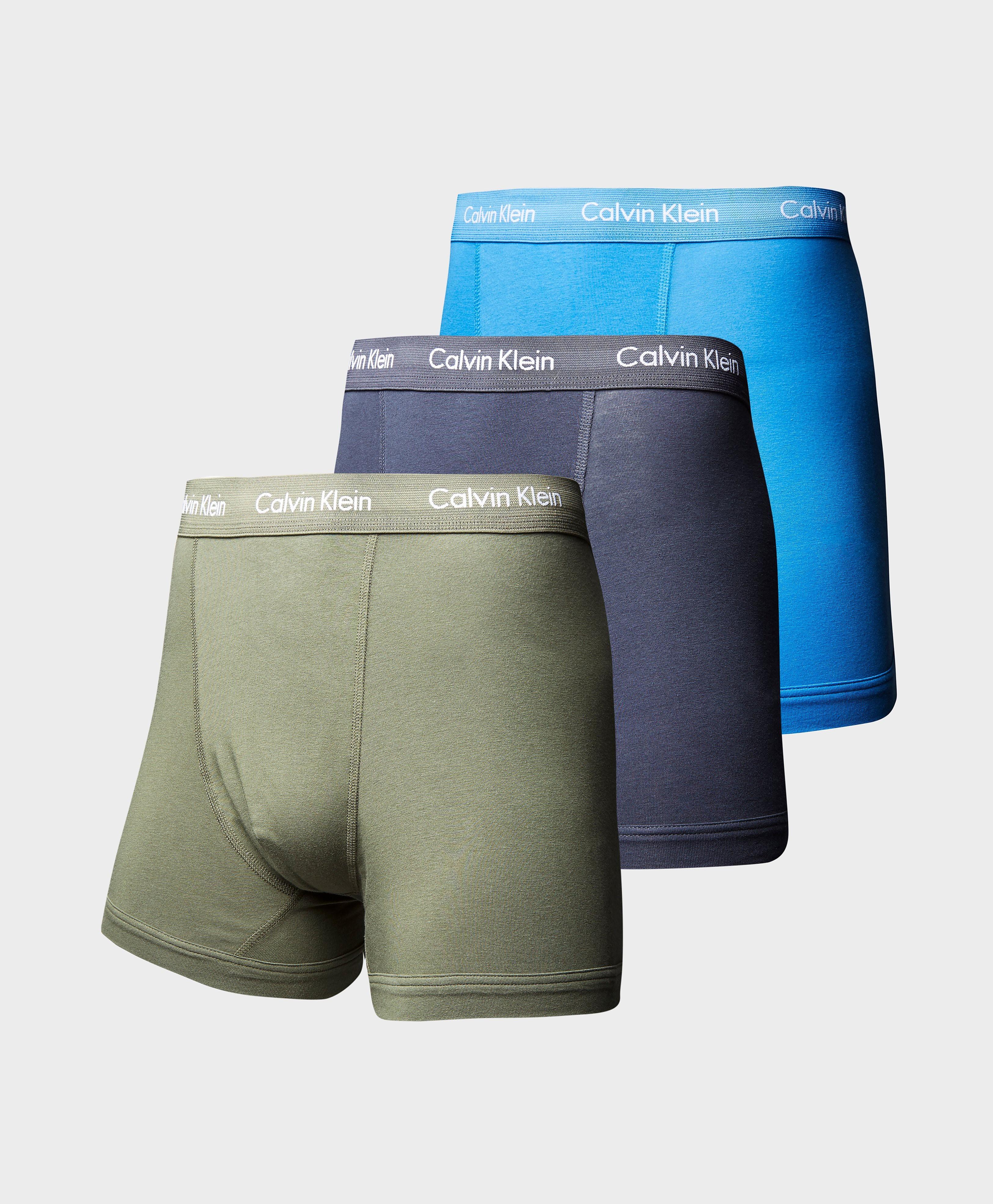Calvin Klein 3 Pack Boxer Shorts  KhakiNavyBlue KhakiNavyBlue