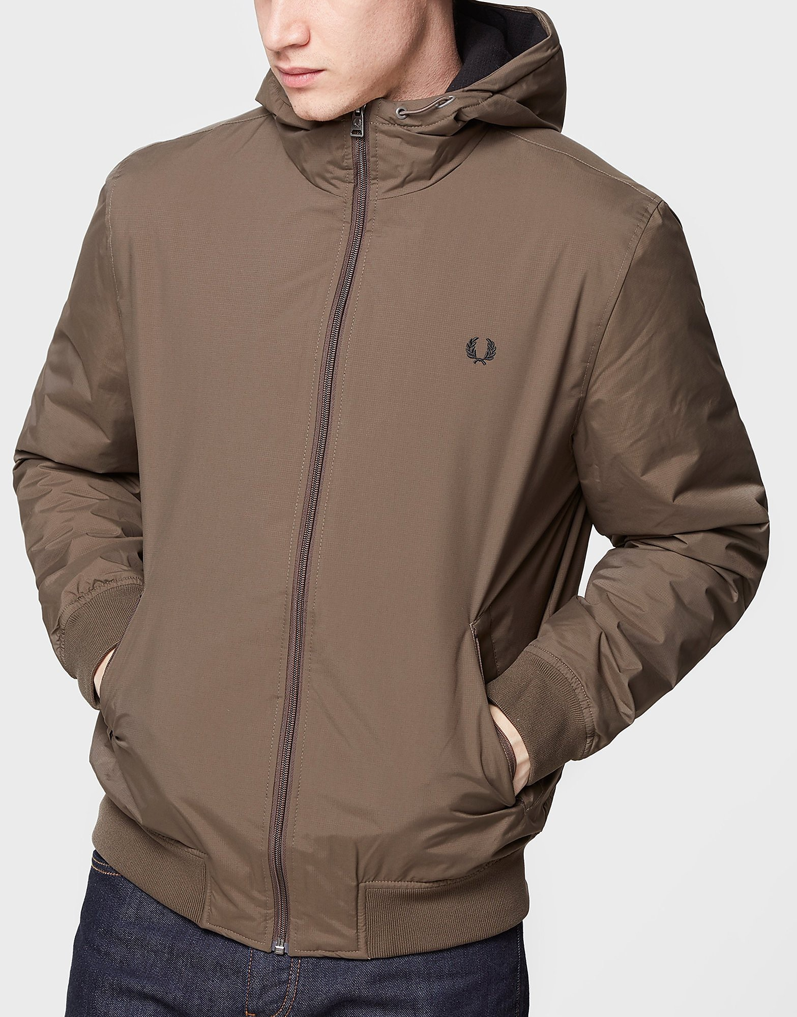 Fred Perry Hooded Brentham Jacket  Exclusive  Green Green