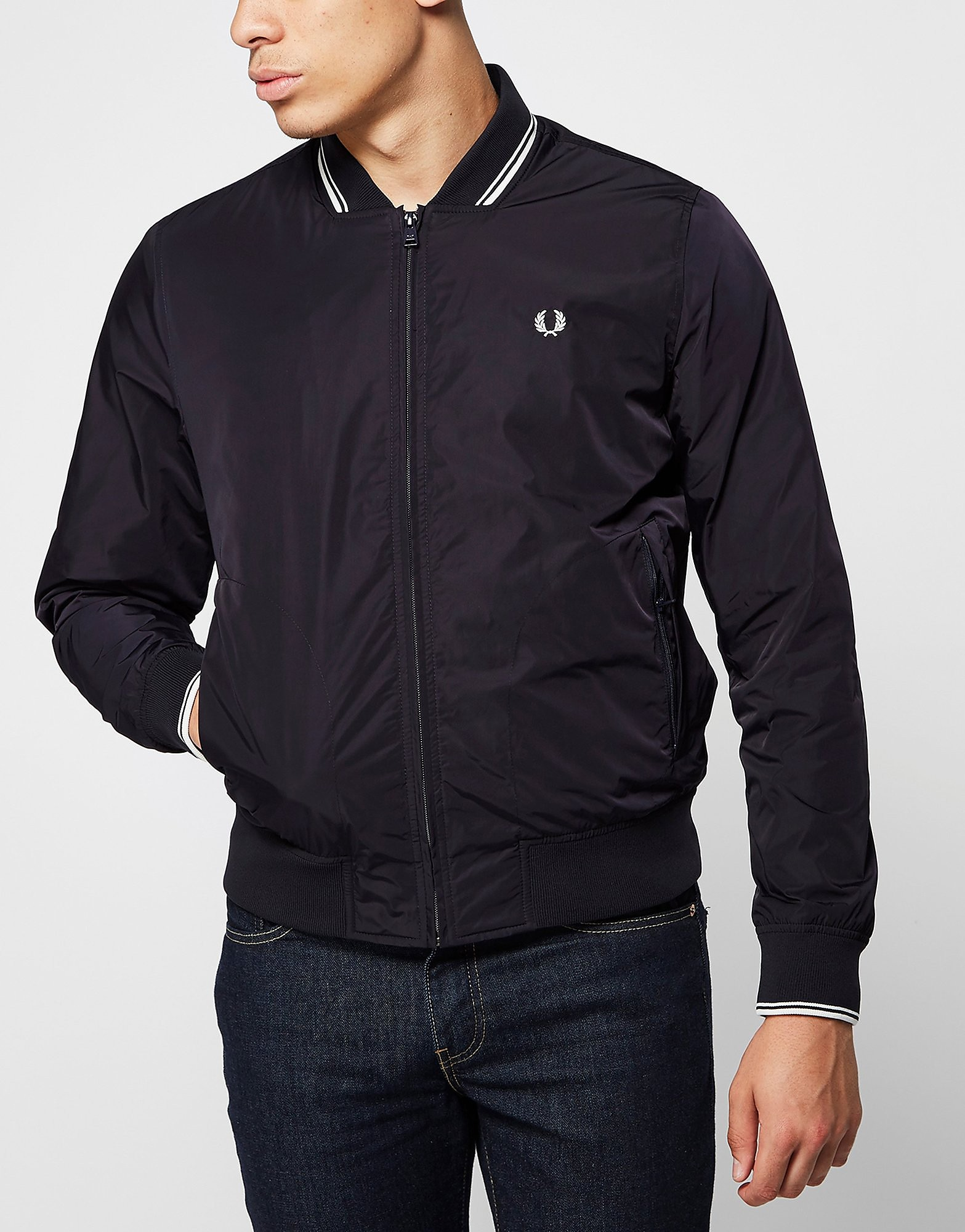 Fred Perry Twin Tip Bomber Jacket  Blue Blue