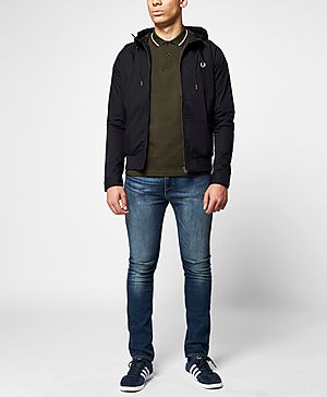 Fred Perry Hooded Harrington Jacket