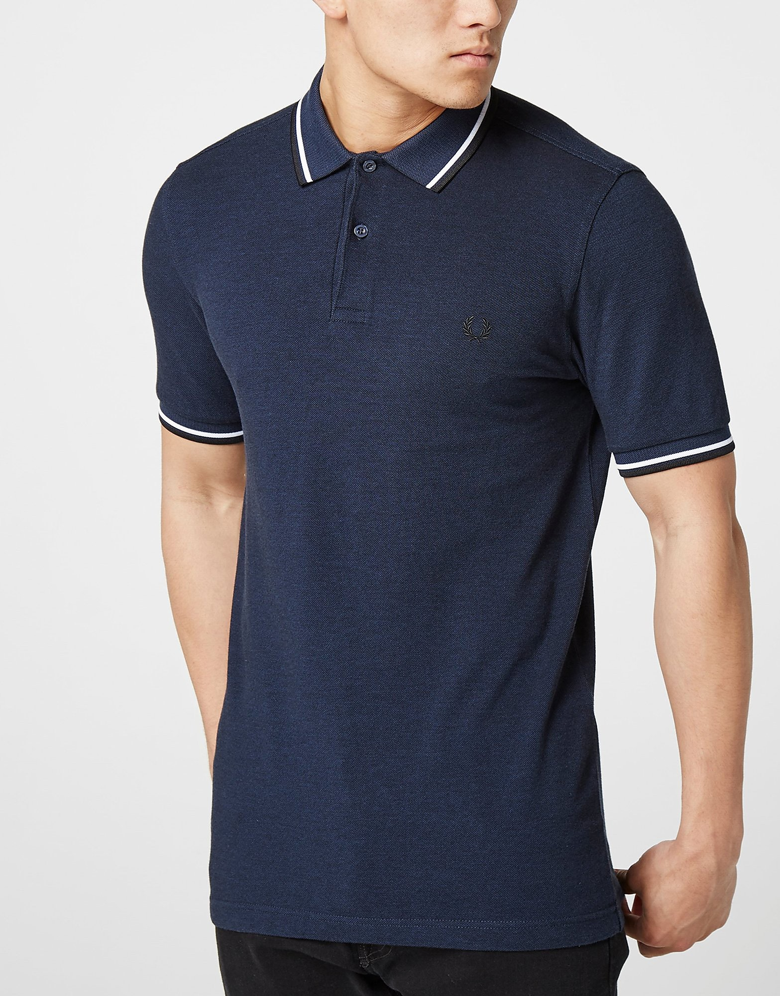 Fred Perry Twin Tip Polo Shirt  Blue Blue