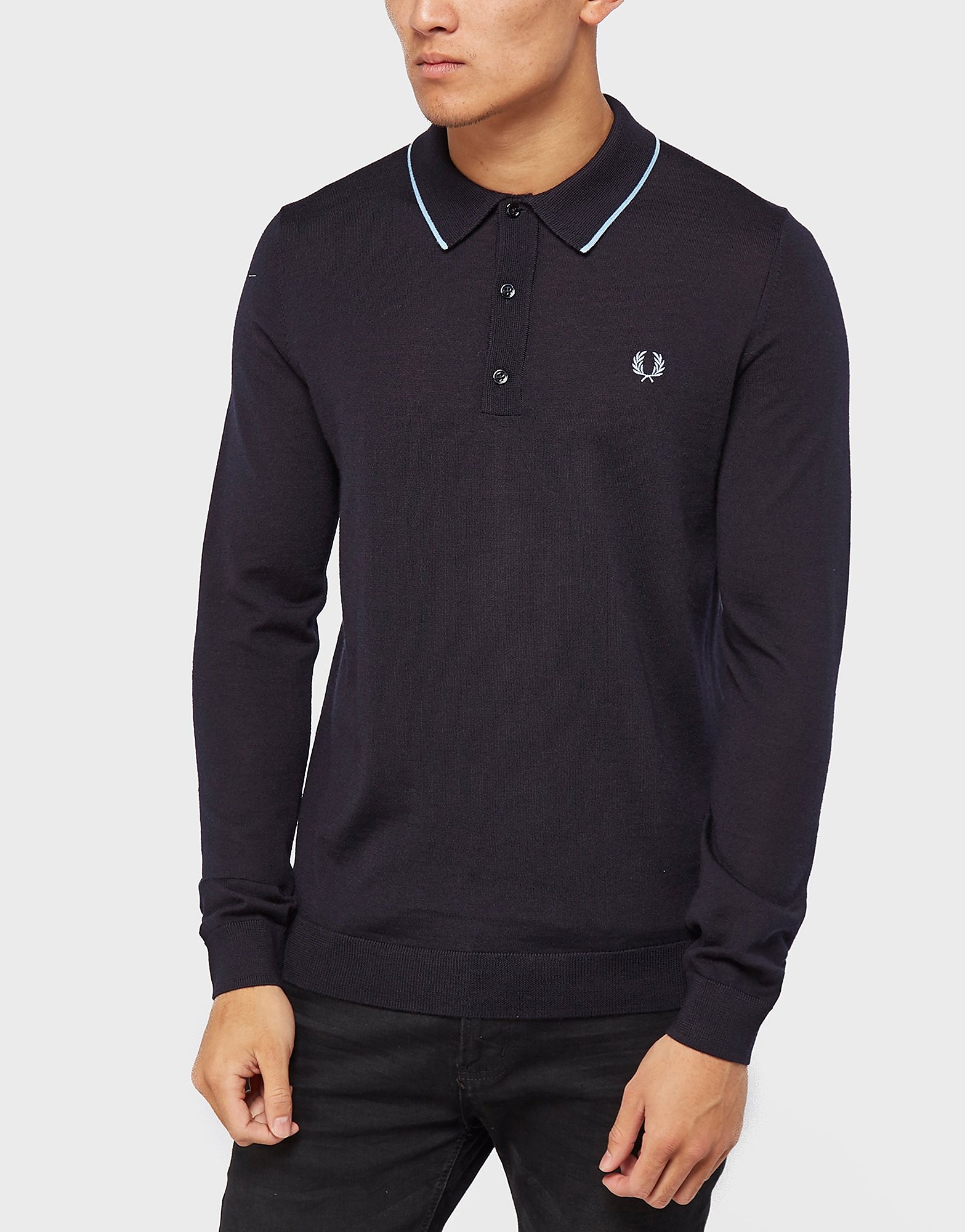 Fred Perry Long Sleeve Kintted Polo Shirt