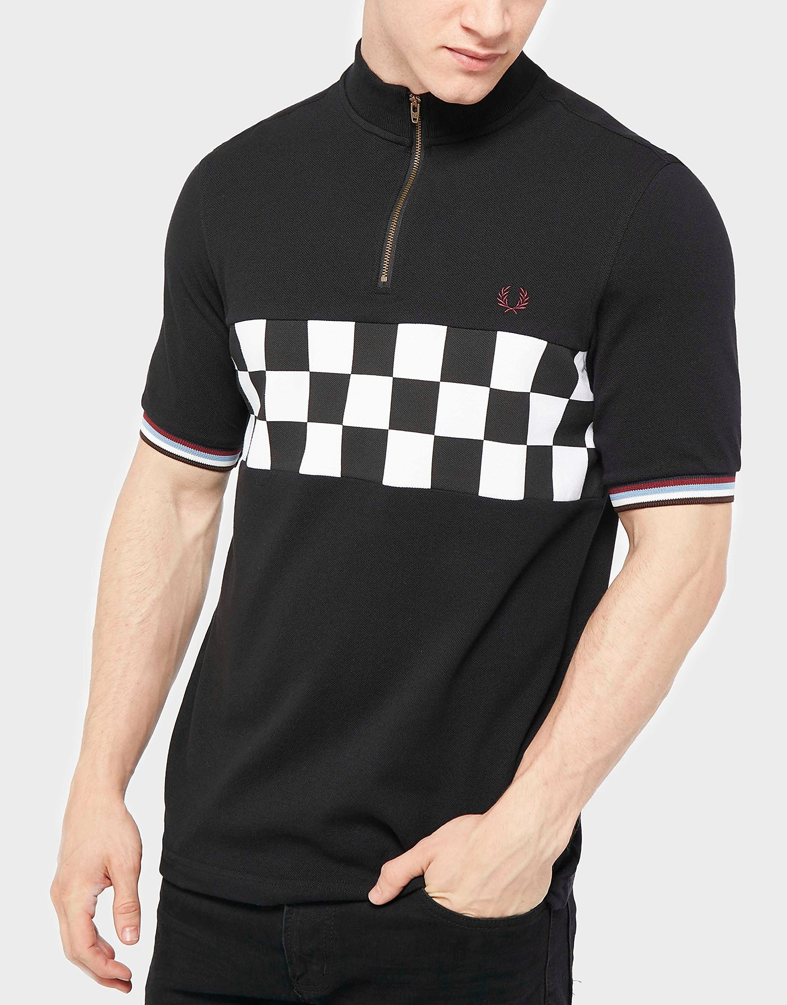 Fred Perry Checkerboard Cycling Polo Shirt