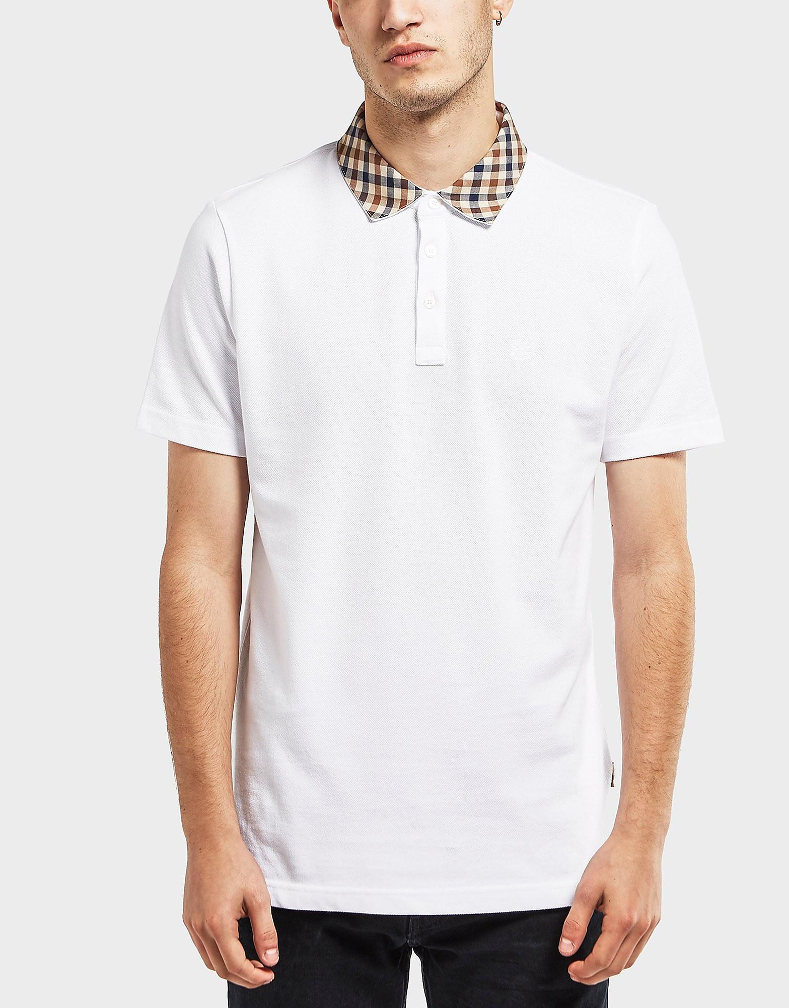 Aquascutum Nathan Club Check Collar Polo Shirt