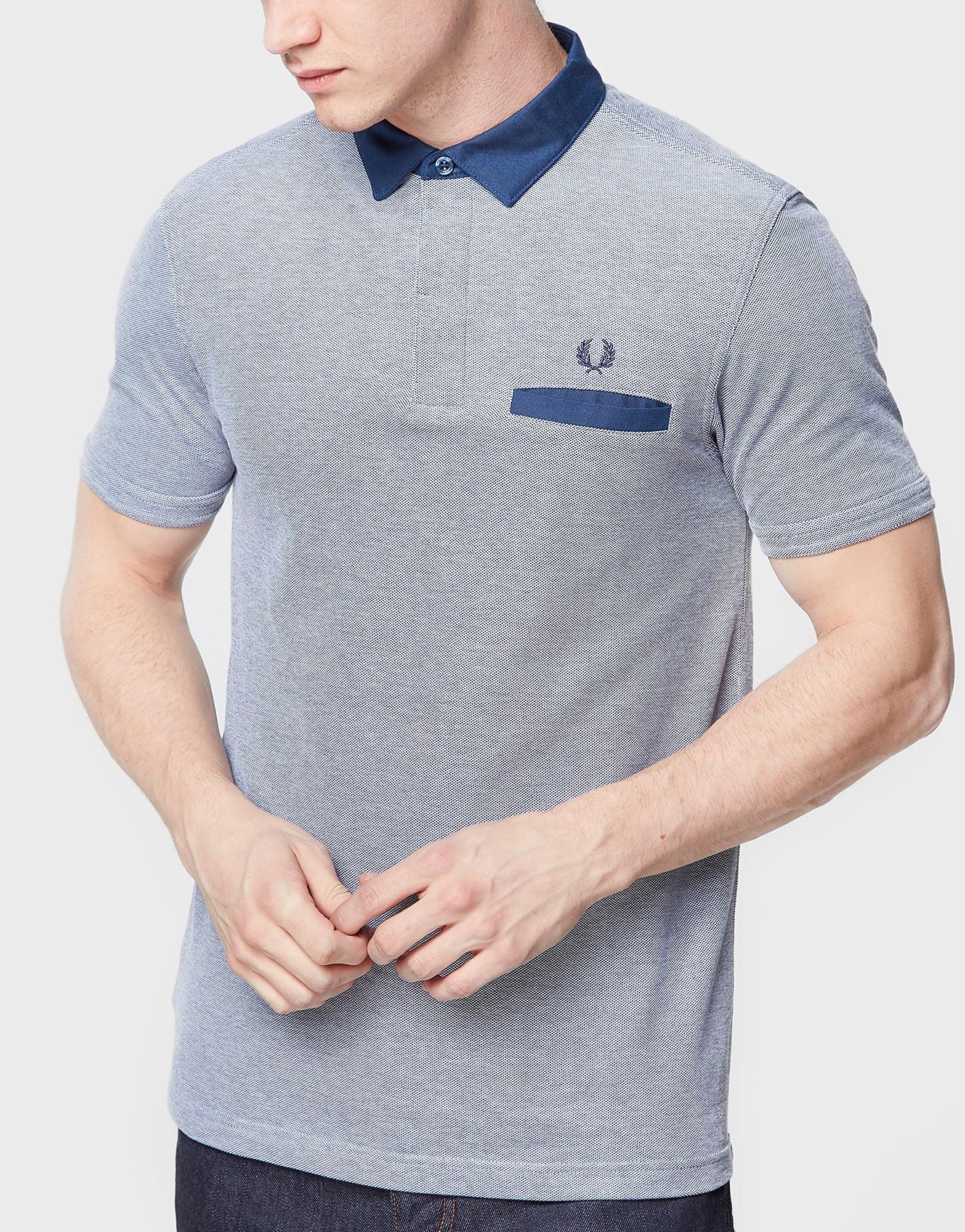 Fred Perry Oxford Trim Collar Polo Shirt  Grey Grey