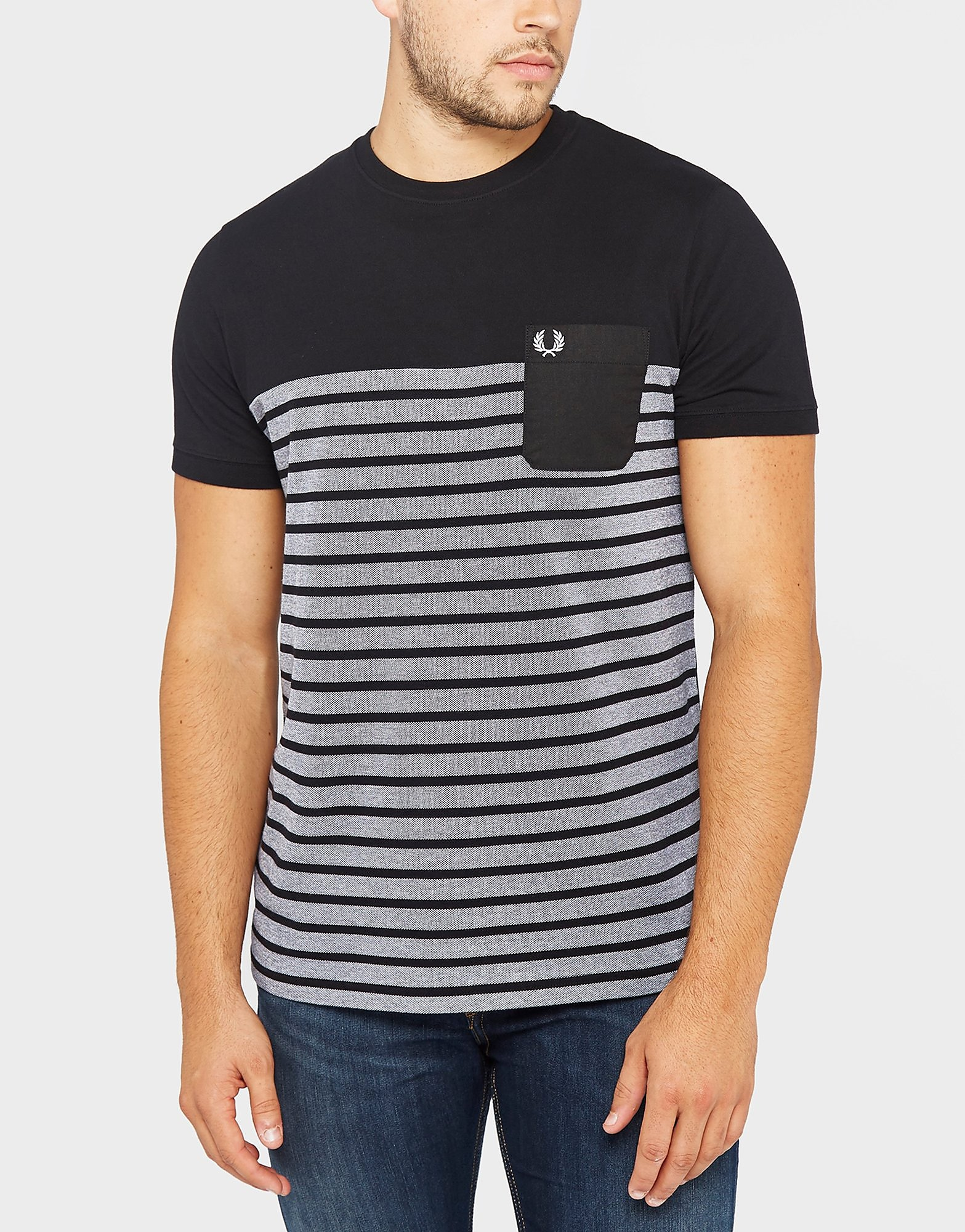 Fred Perry C&S Stripe Pique T-Shirt - Exclusive