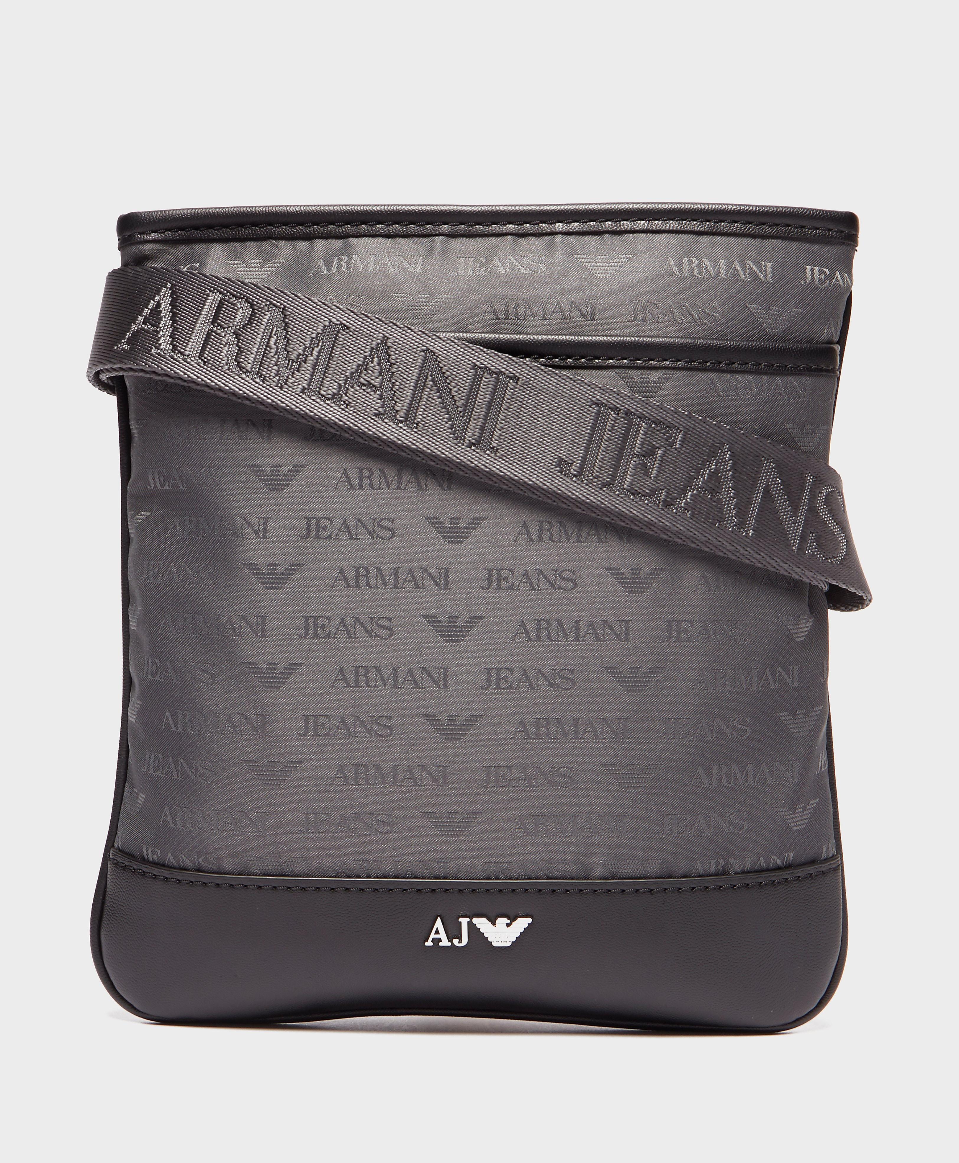 Armani Jeans Nylon Small Item Bag  Grey Grey