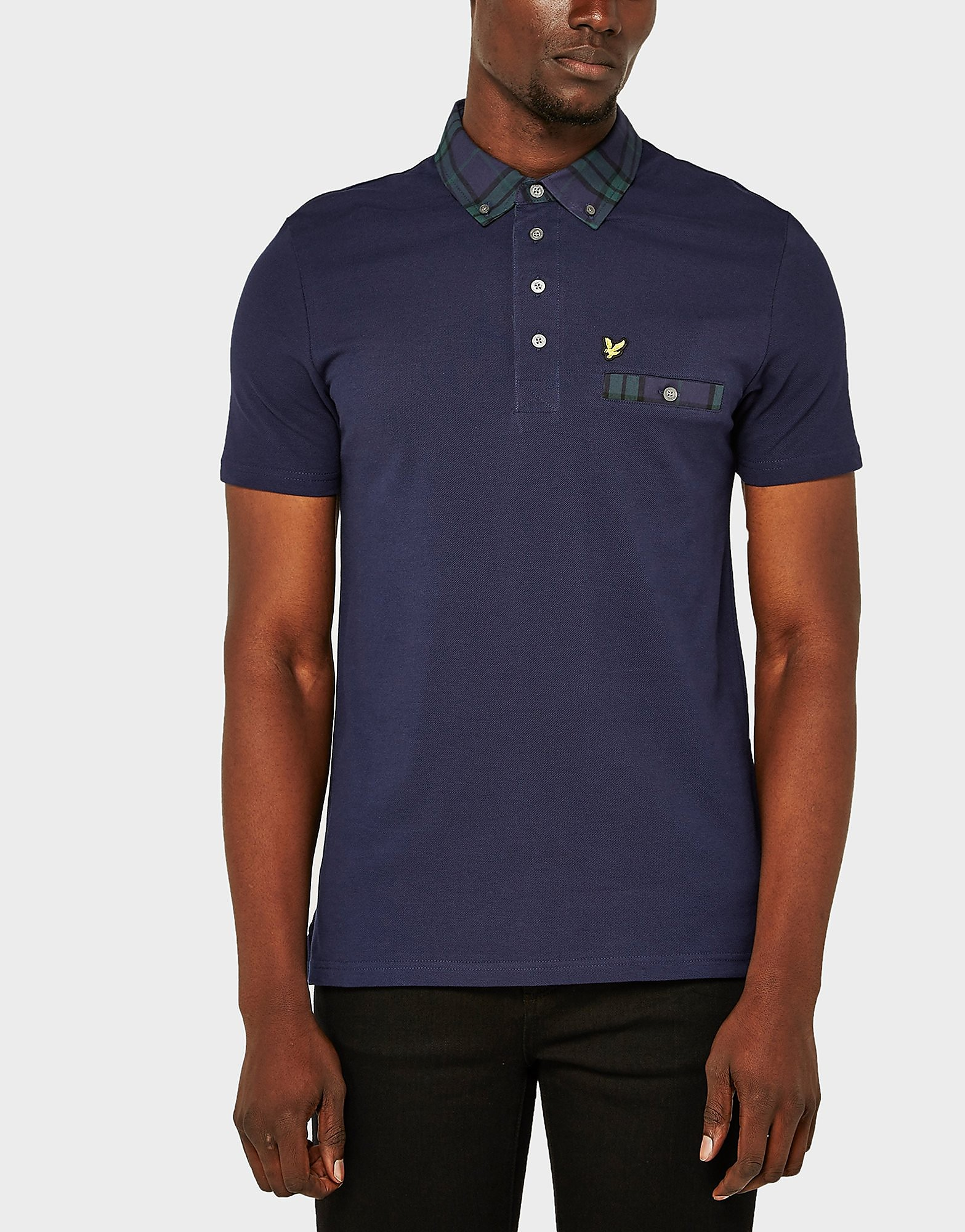 Lyle & Scott Tartan Check Collar Polo Shirt