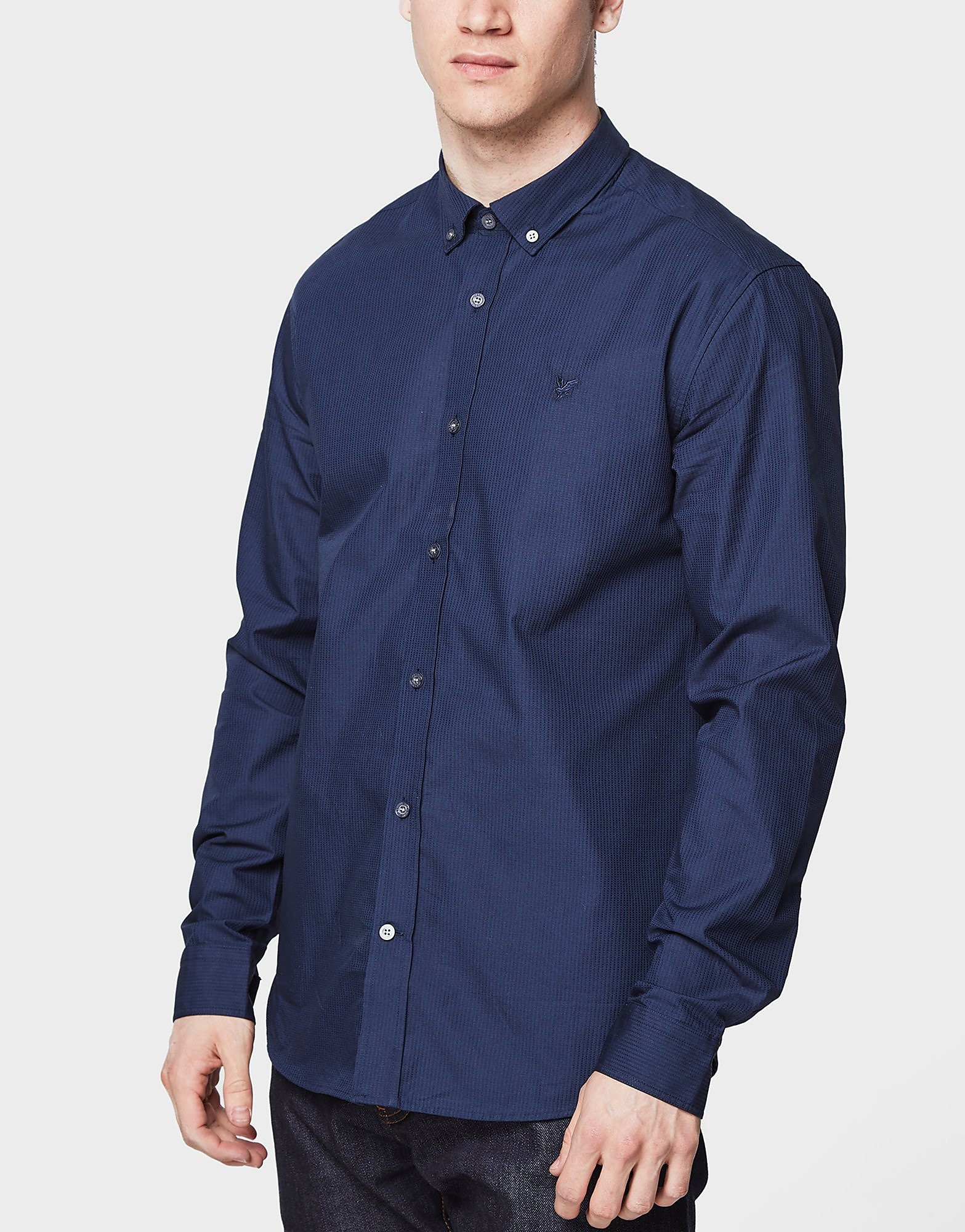 Lyle & Scott Long Sleeve Pindot Textured Shirt