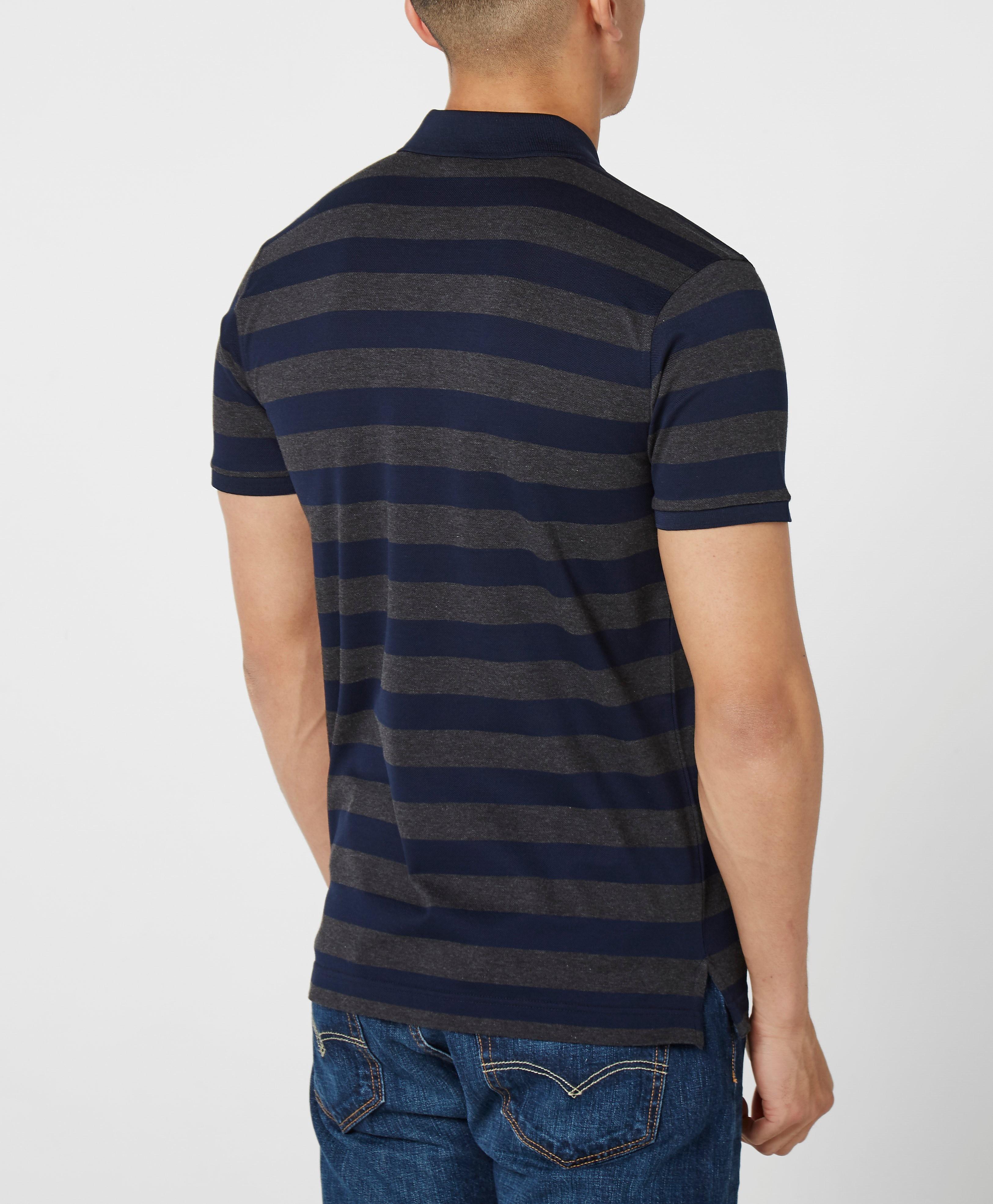 Paul and Shark Block Stripe Polo Shirt