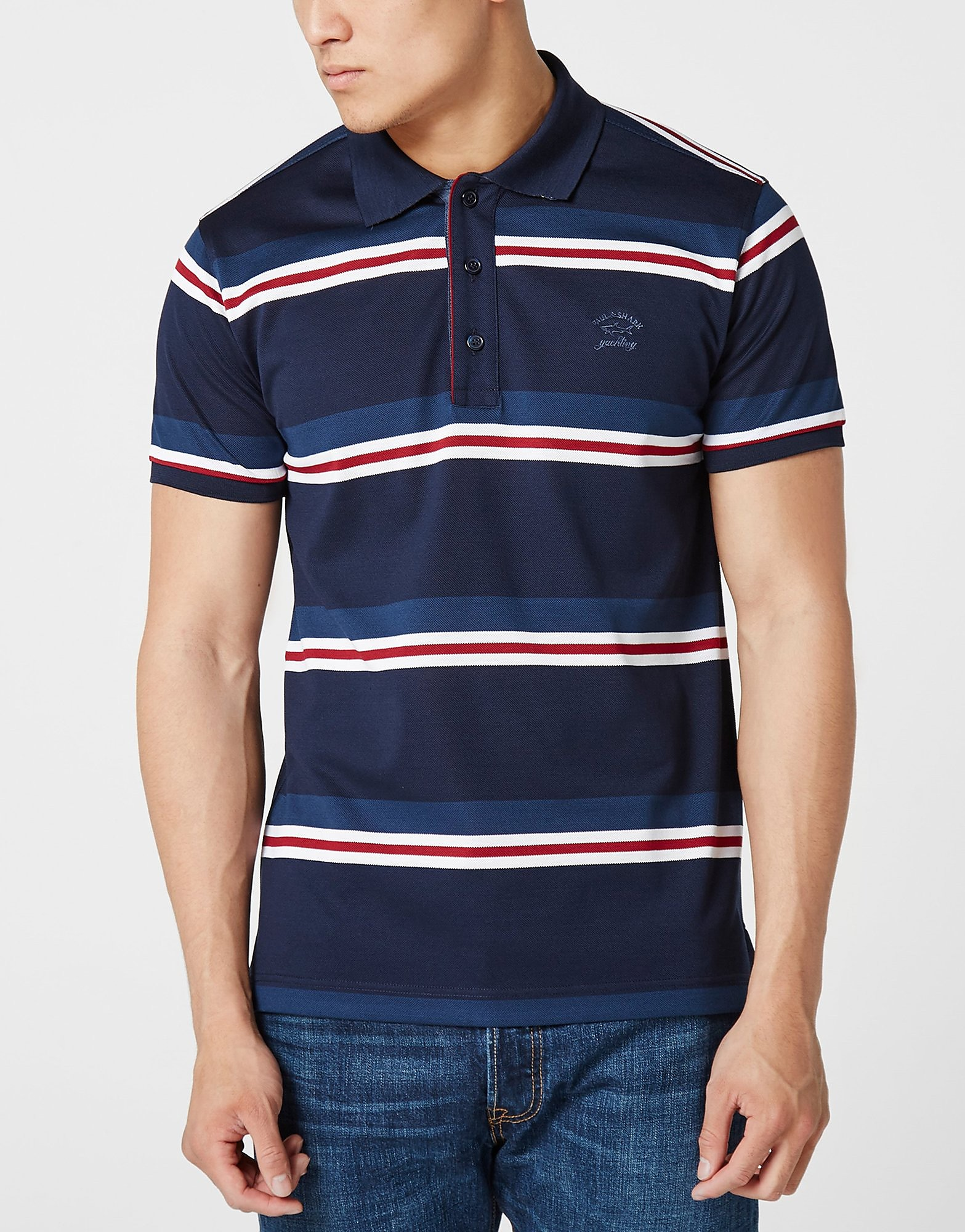 Paul and Shark Tri Stripe Polo Shirt