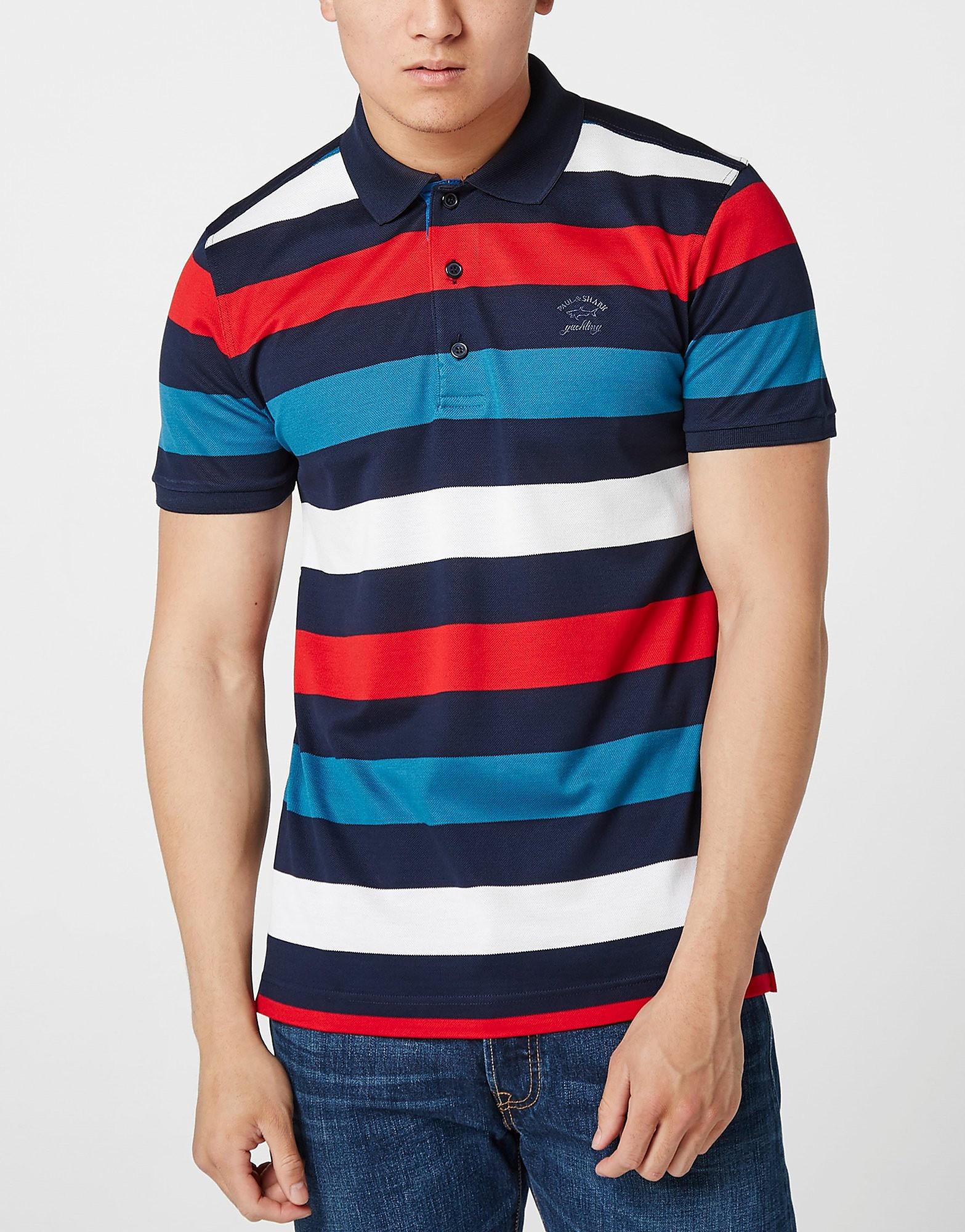 Paul and Shark Multi Stripe Polo Shirt