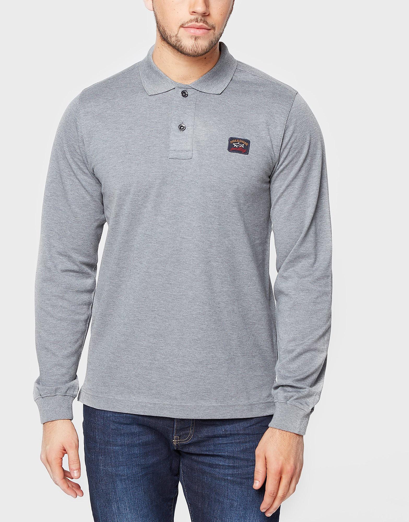 Paul and Shark Long Sleeve Pique Polo Shirt