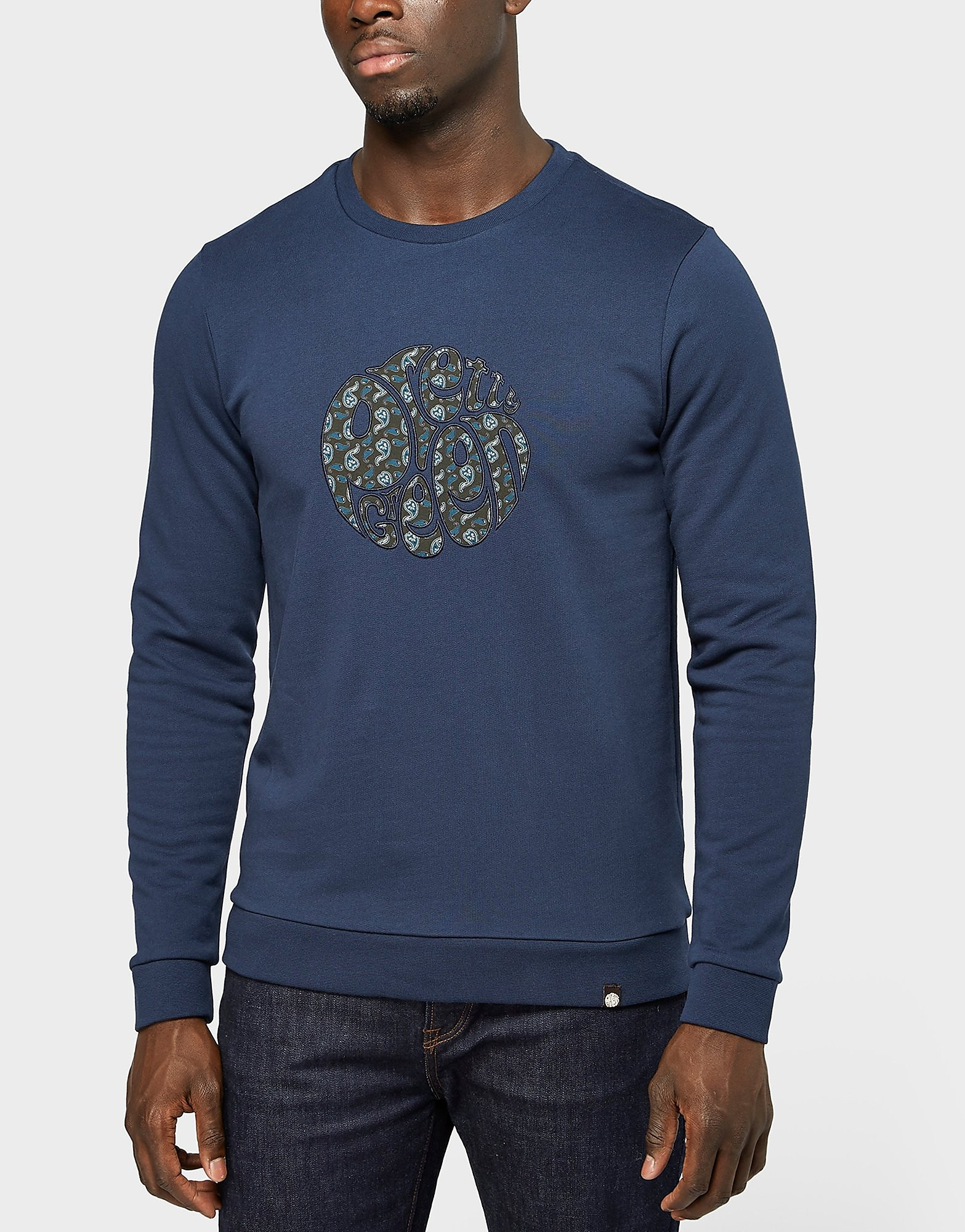 Pretty Green Applique Crew Sweatshirt - Exclusive