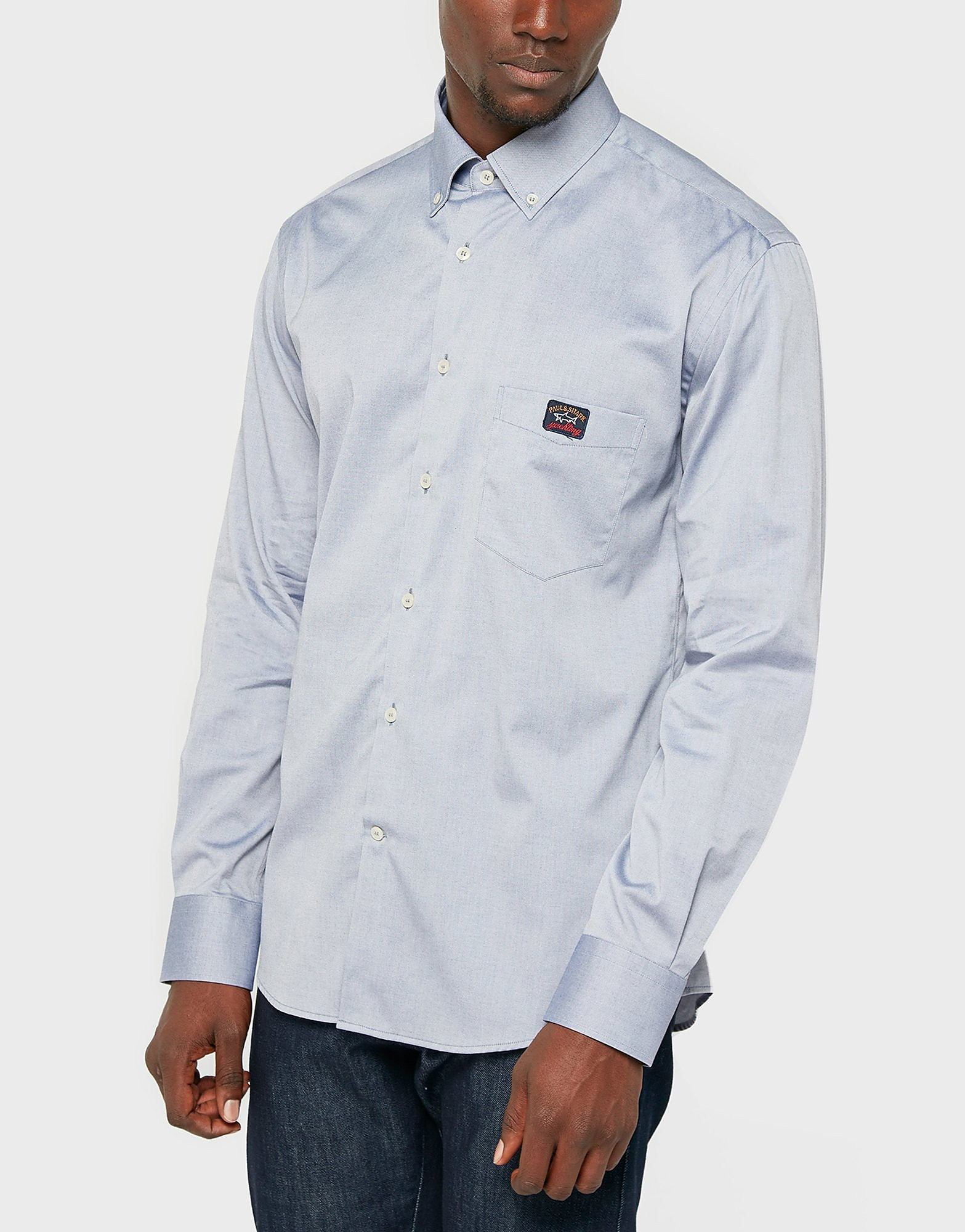 Paul and Shark Button Down Oxford Blue