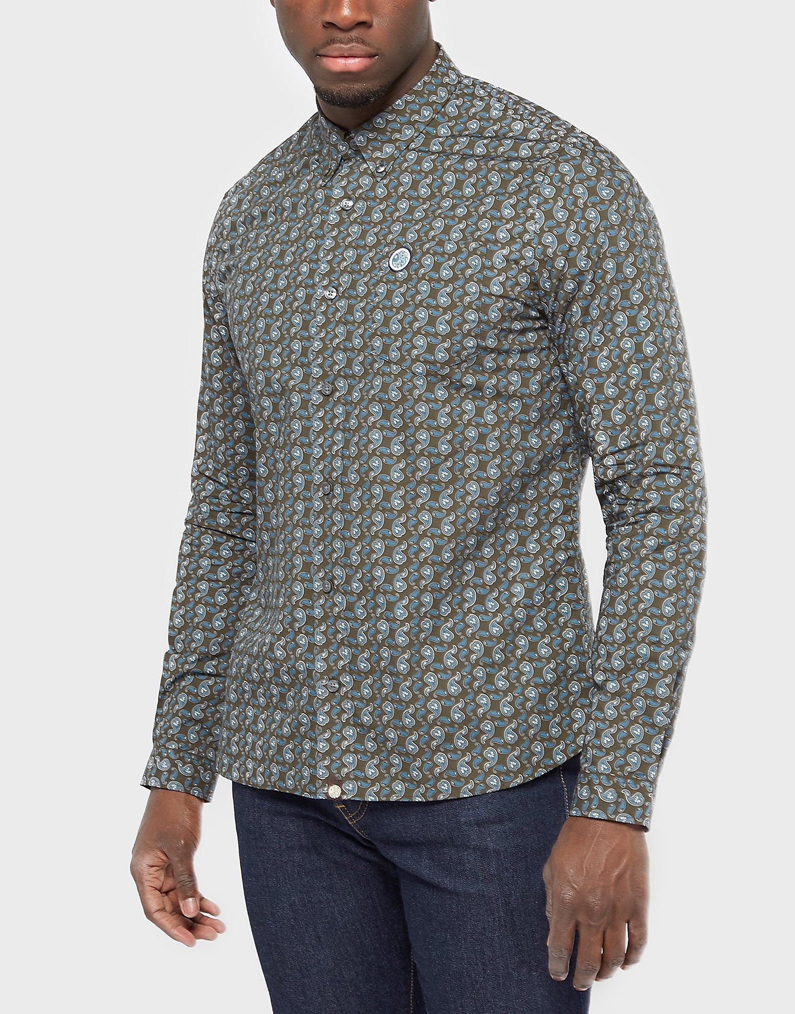 Pretty Green Paisley Long Sleeve Shirt - Exclusive
