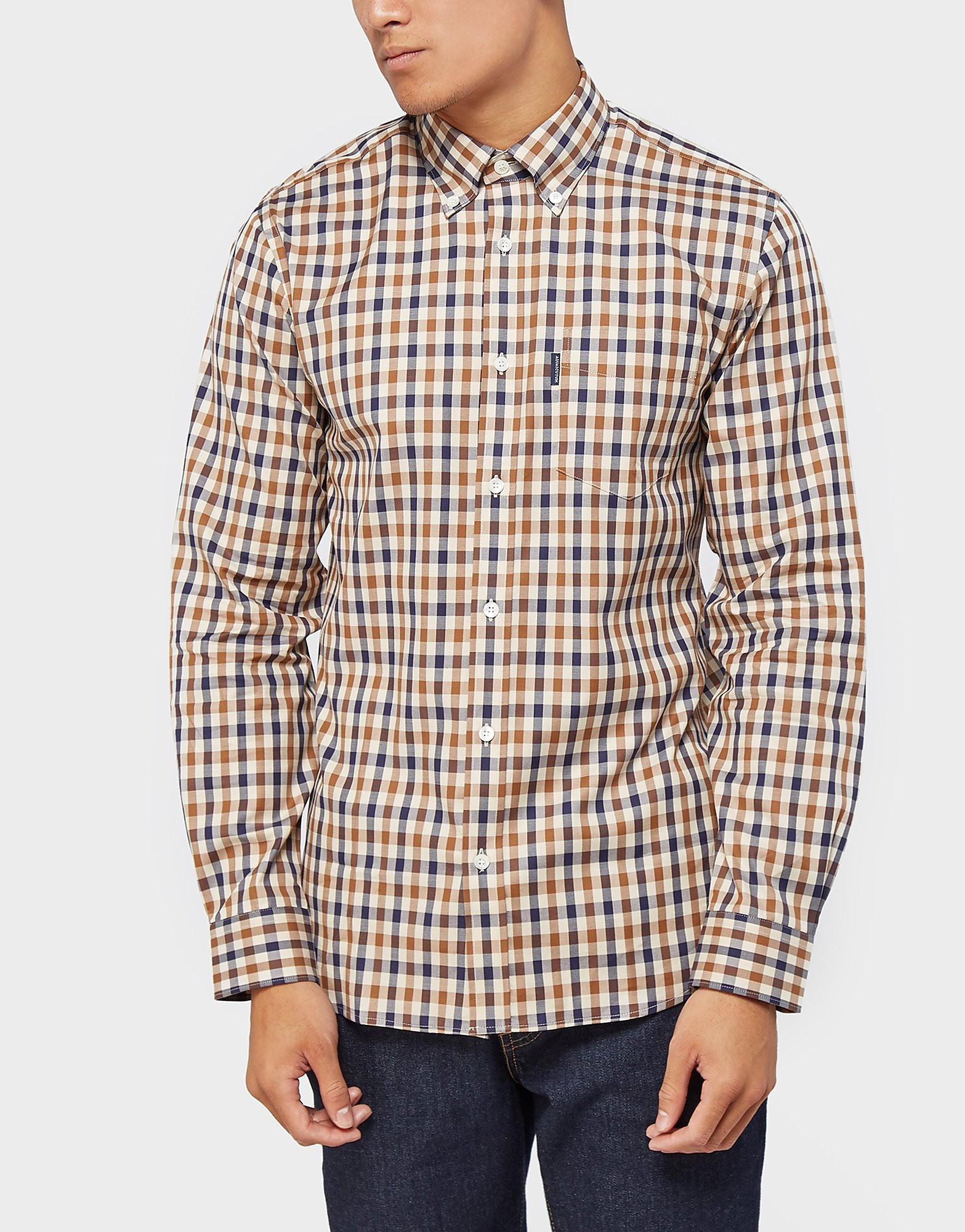 Aquascutum Emsworth Checked Long Sleeve Shirt